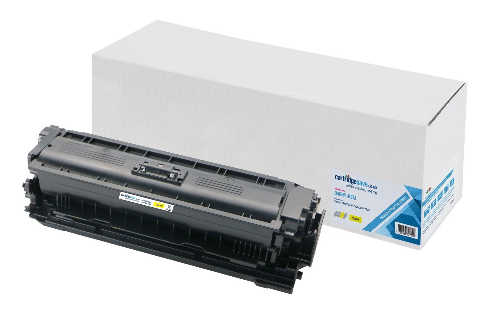 Compatible High Capacity Yellow Canon 040H Toner Cartridge (Replaces 040HY)