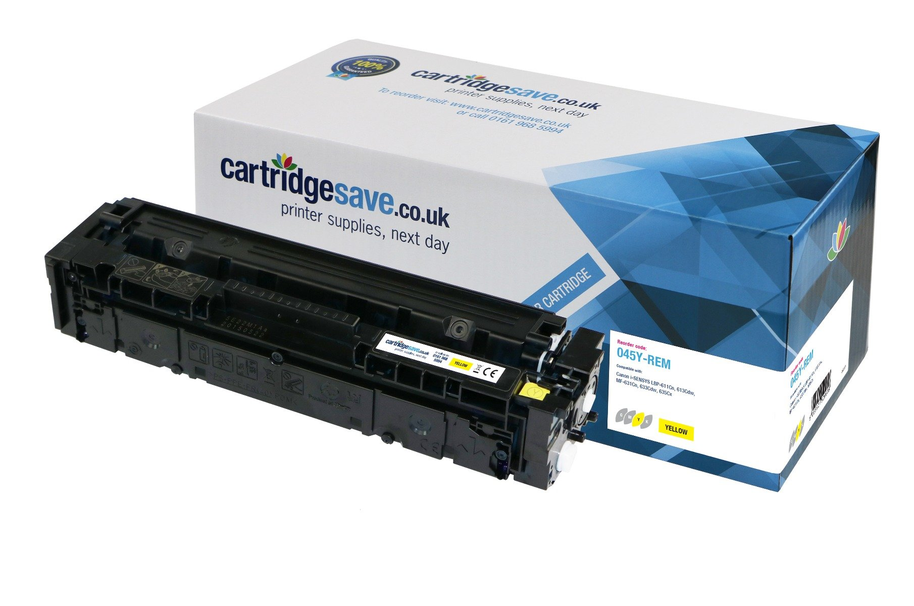 Compatible Yellow Canon 045 Laser Toner - (Replaces Canon 045Y)