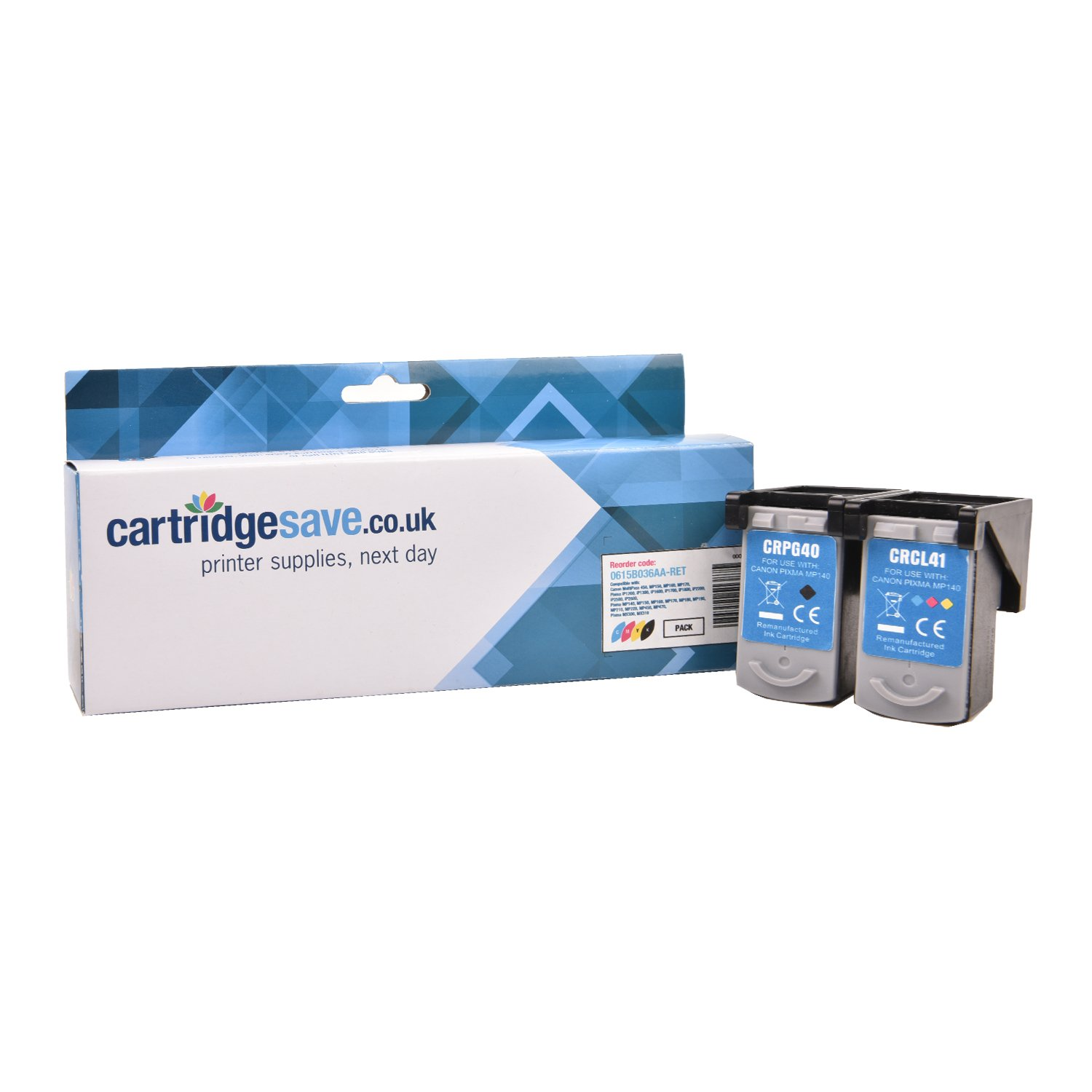Compatible Black & Tri-Colour Canon PG-40 / CL-41 Ink Cartridge Multipack - (0615B001 & 0617B001)