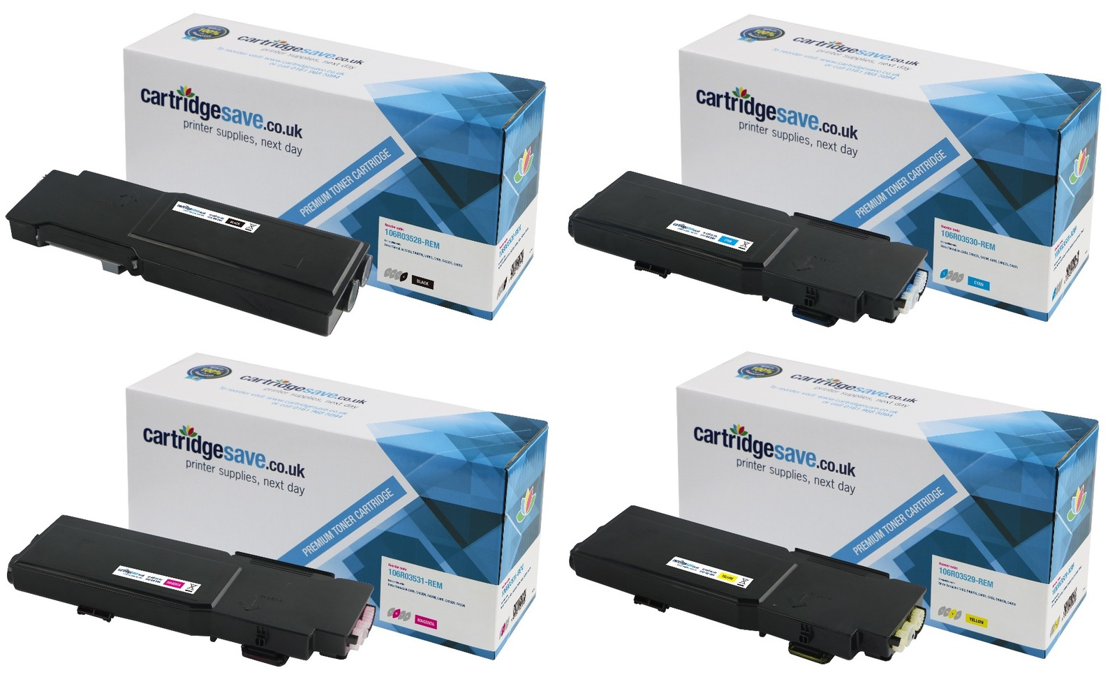 Compatible Extra High Capacity 4 Colour Xerox 106R035 Toner Cartridge Multipack (106R03528/29/30/31)