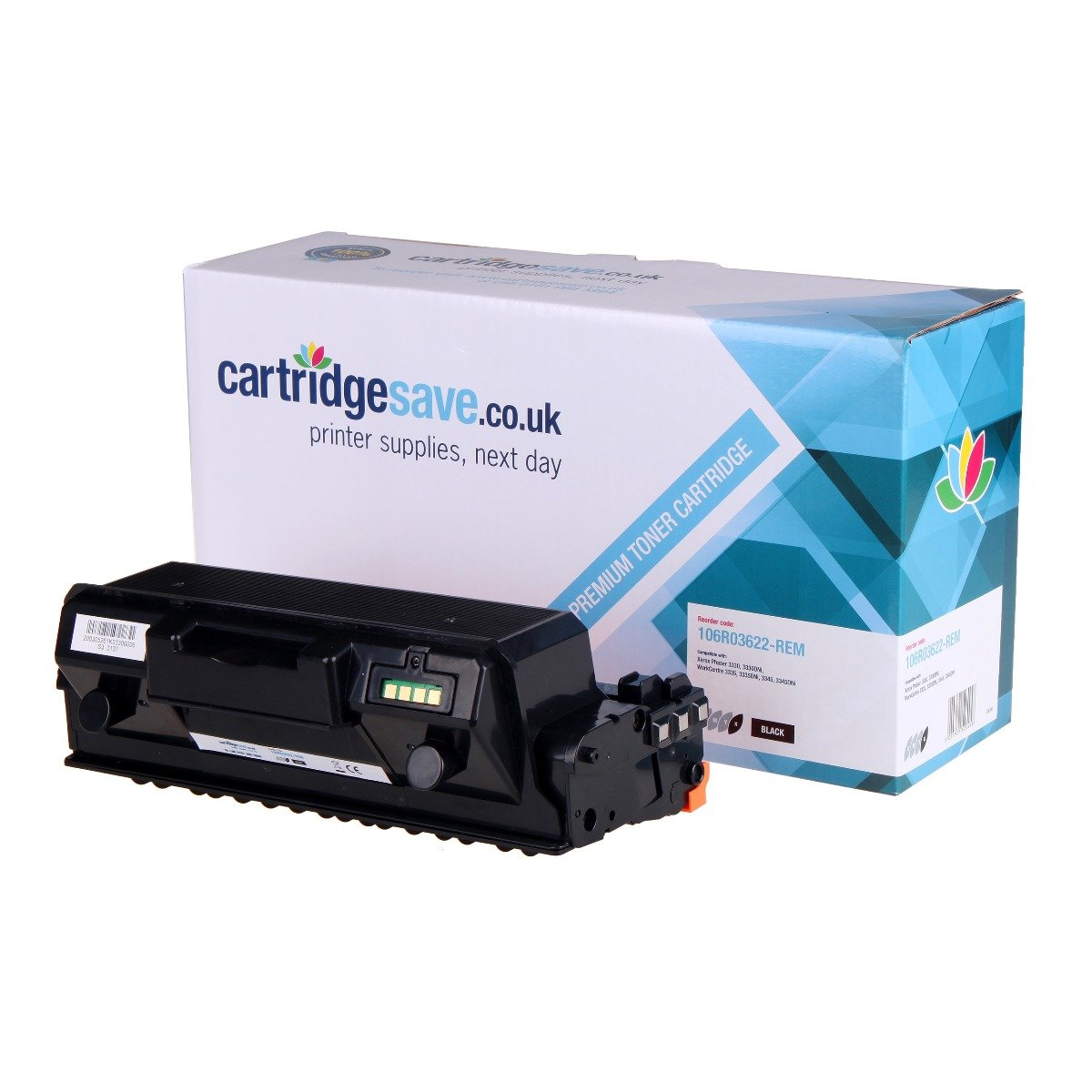 Compatible Black High Capacity 106R03622 Xerox Toner Cartridge - (Replaces Xerox 106R03622)