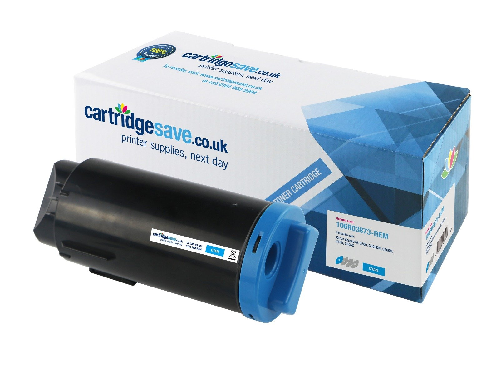 Compatible Extra High Capacity Cyan 106R03873 Xerox C50X Toner Cartridge - (Replaces 106R03873)
