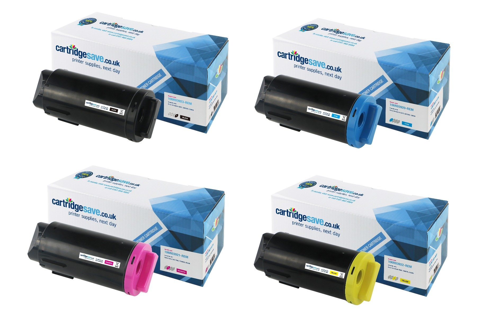 Compatible 4 Colour Xerox 106R0392 Toner Cartridge Multipack (Replaces Xerox 106R03920/21/22/23)