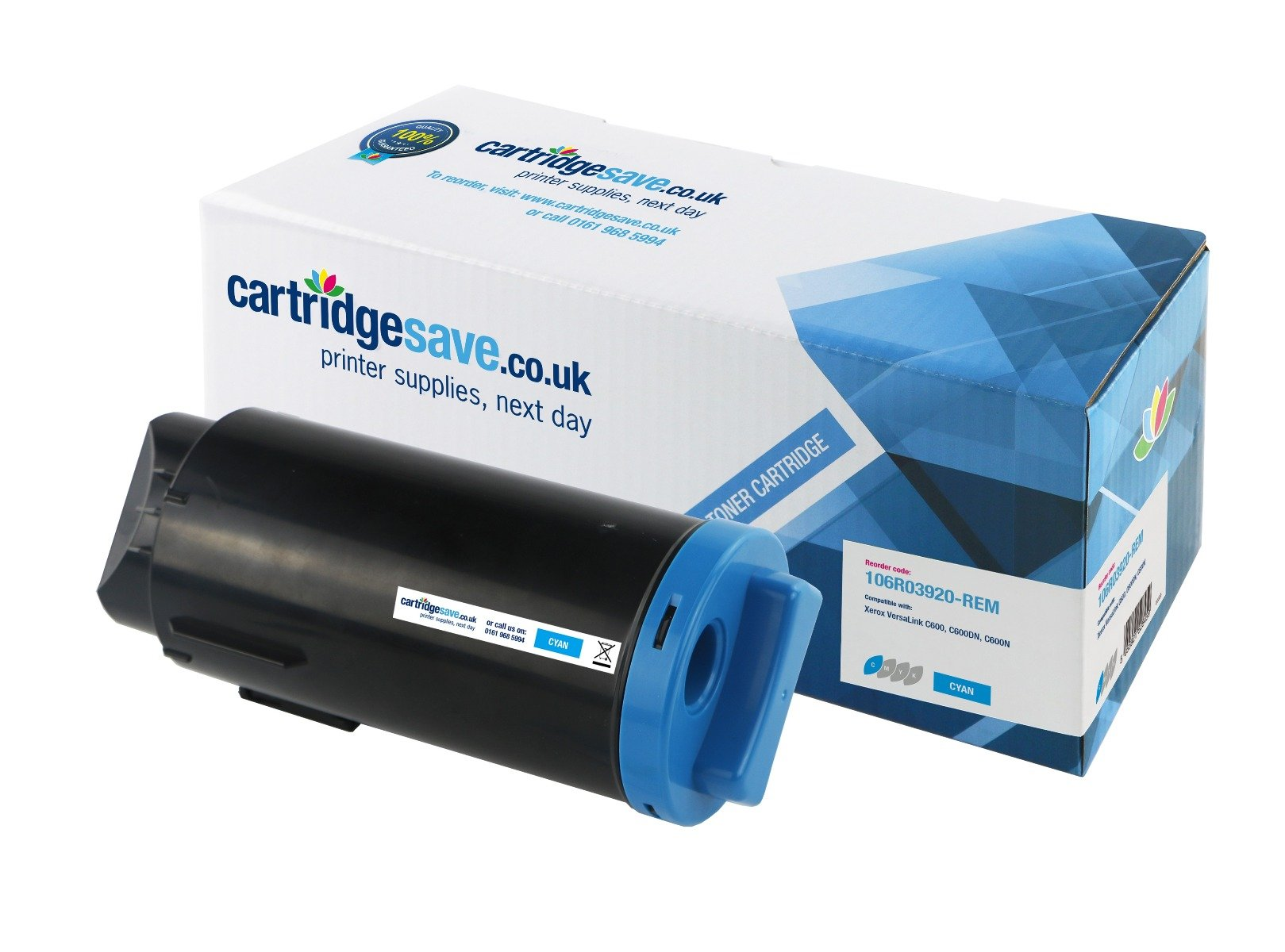 Compatible Extra High Capacity Xerox 106R03920 Cyan Toner Cartridge (106R03920 Laser Printer Cartridge)