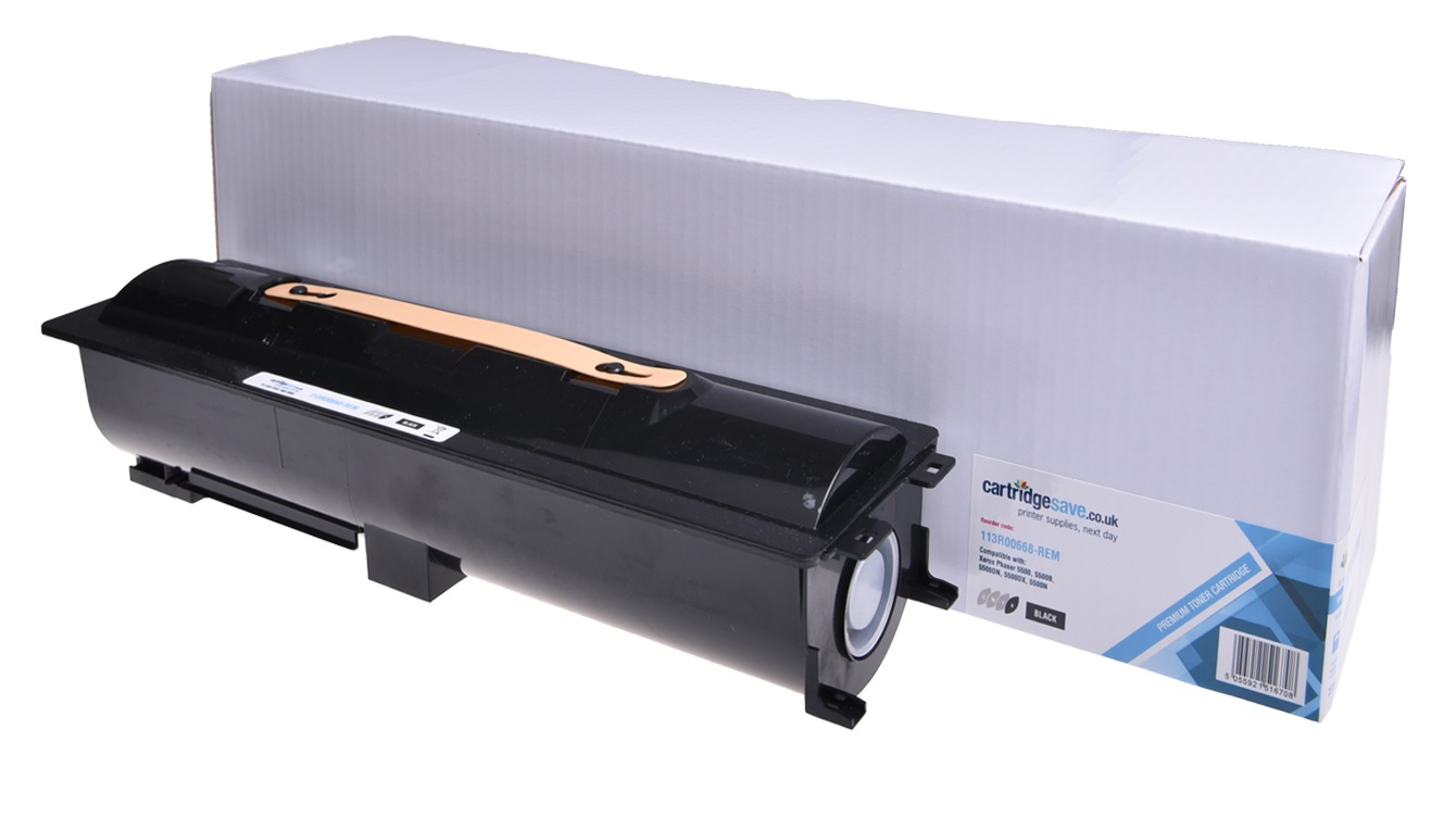 Compatible Black Xerox 113R00668 Toner Cartridge (Replaces Xerox 113R00668 Laser Printer Cartridge)