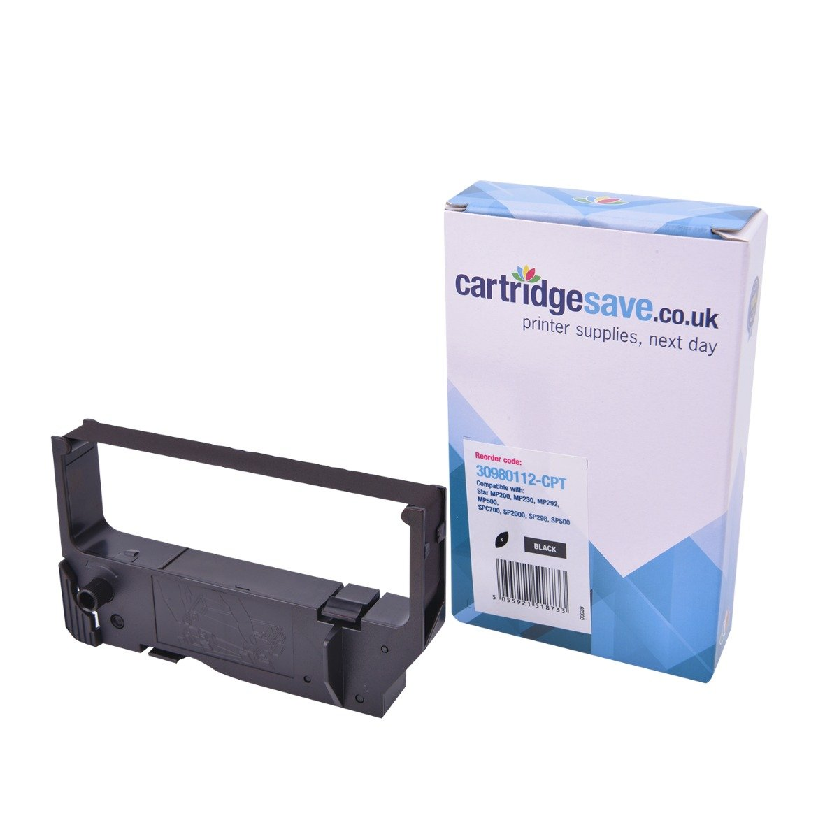 Compatible Black Star RC200B Ribbon Cartridge - (30980112 Printer Ribbon)