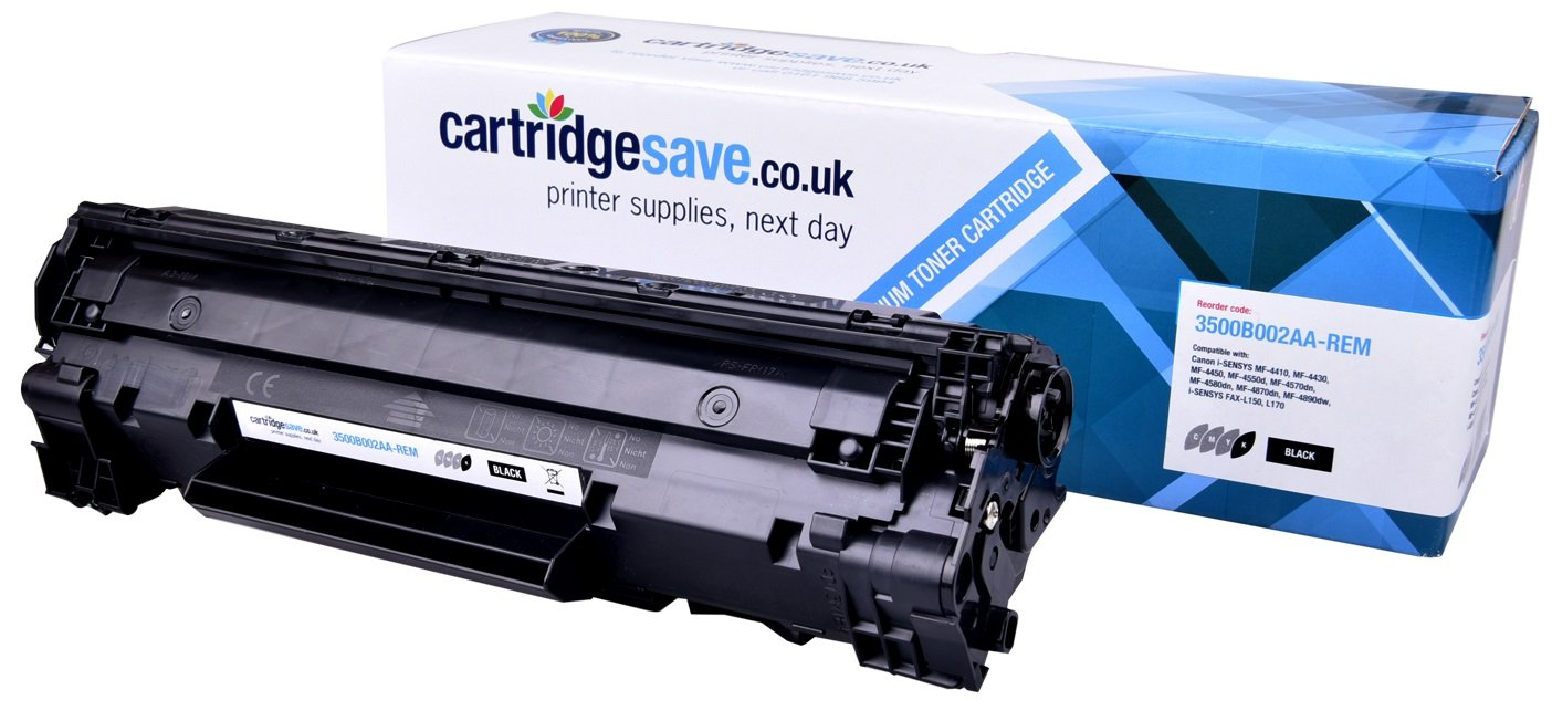 Compatible Black Canon 728 Toner Cartridge (Replaces Canon 3500B002AA Laser Printer Cartridge)