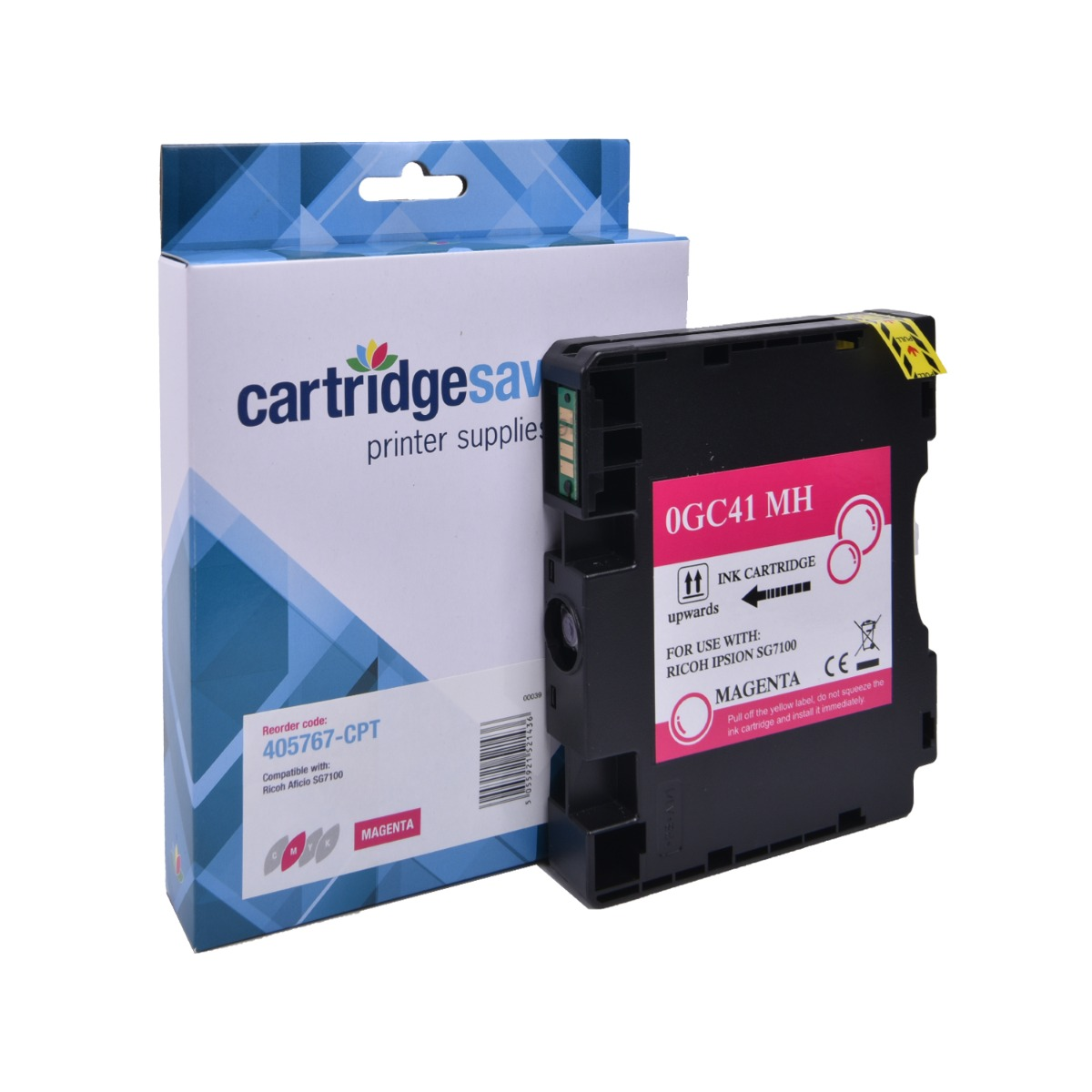 Compatible Ricoh Magenta GC41 Gel Ink Cartridge - (Ricoh Magenta 405767 Gel Cartridge)