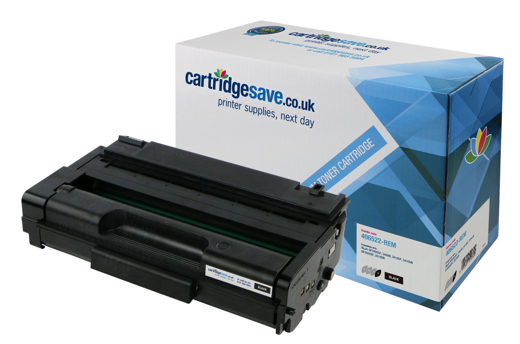 Compatible High Capacity Black Ricoh 406522 Toner Cartridge (Replaces Ricoh 406522 Laser Printer Cartridge)