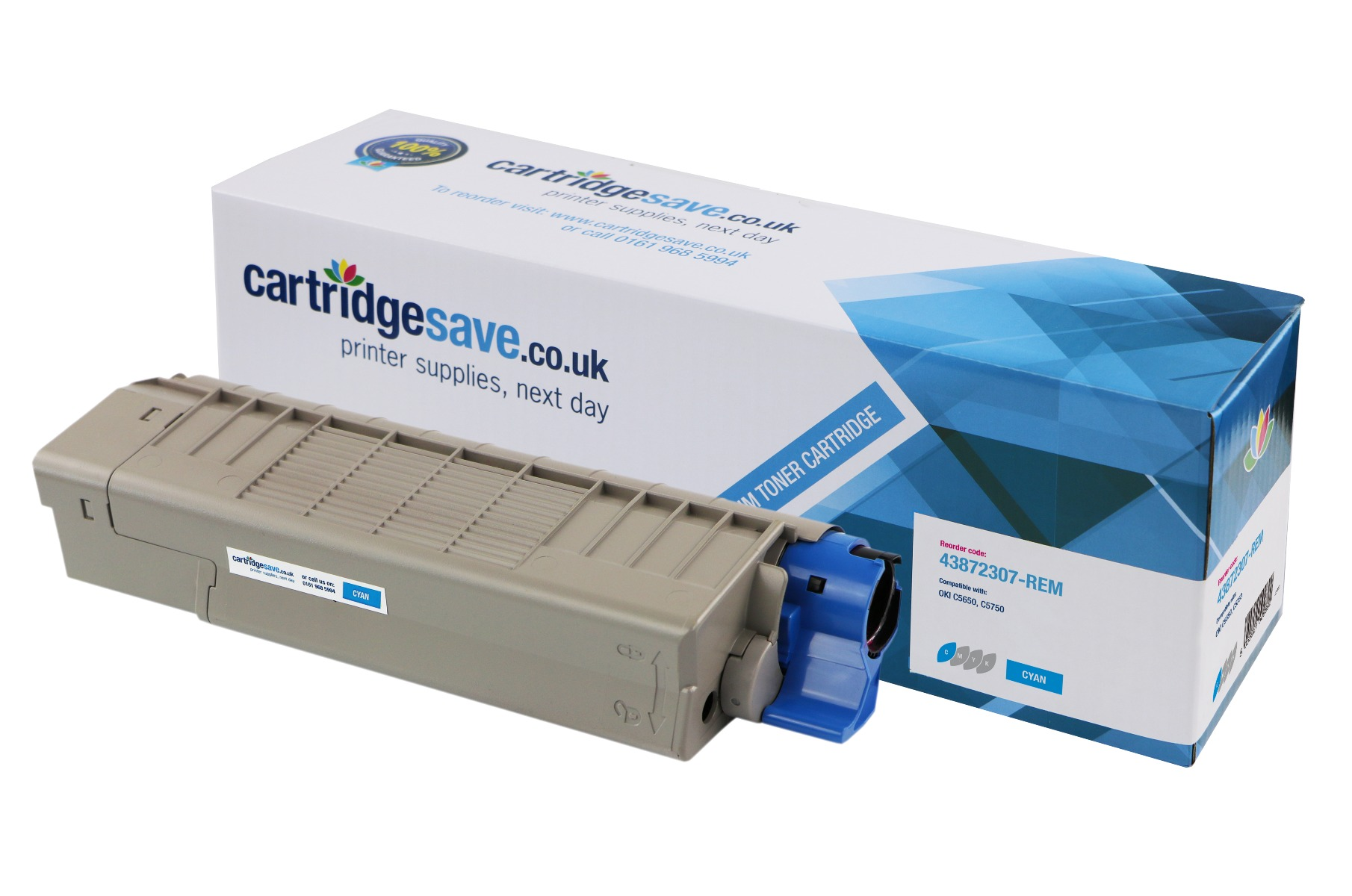 Compatible Cyan Oki 43872307 Toner Cartridge - (43872307)