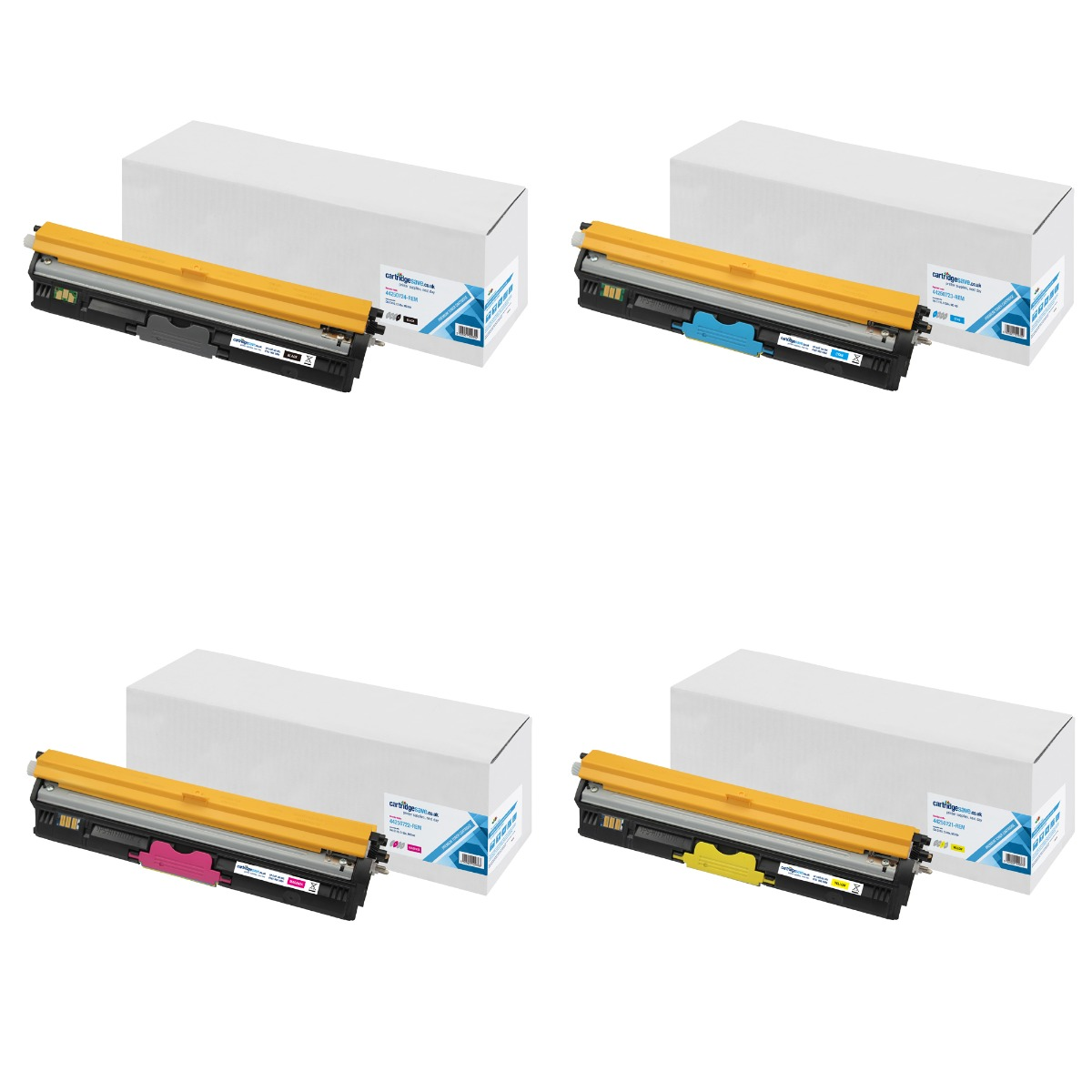 Compatible High Capacity 4 Colour Oki 4425072 Laser Toner Multipack (Replaces Oki 44250724/3/2/1)