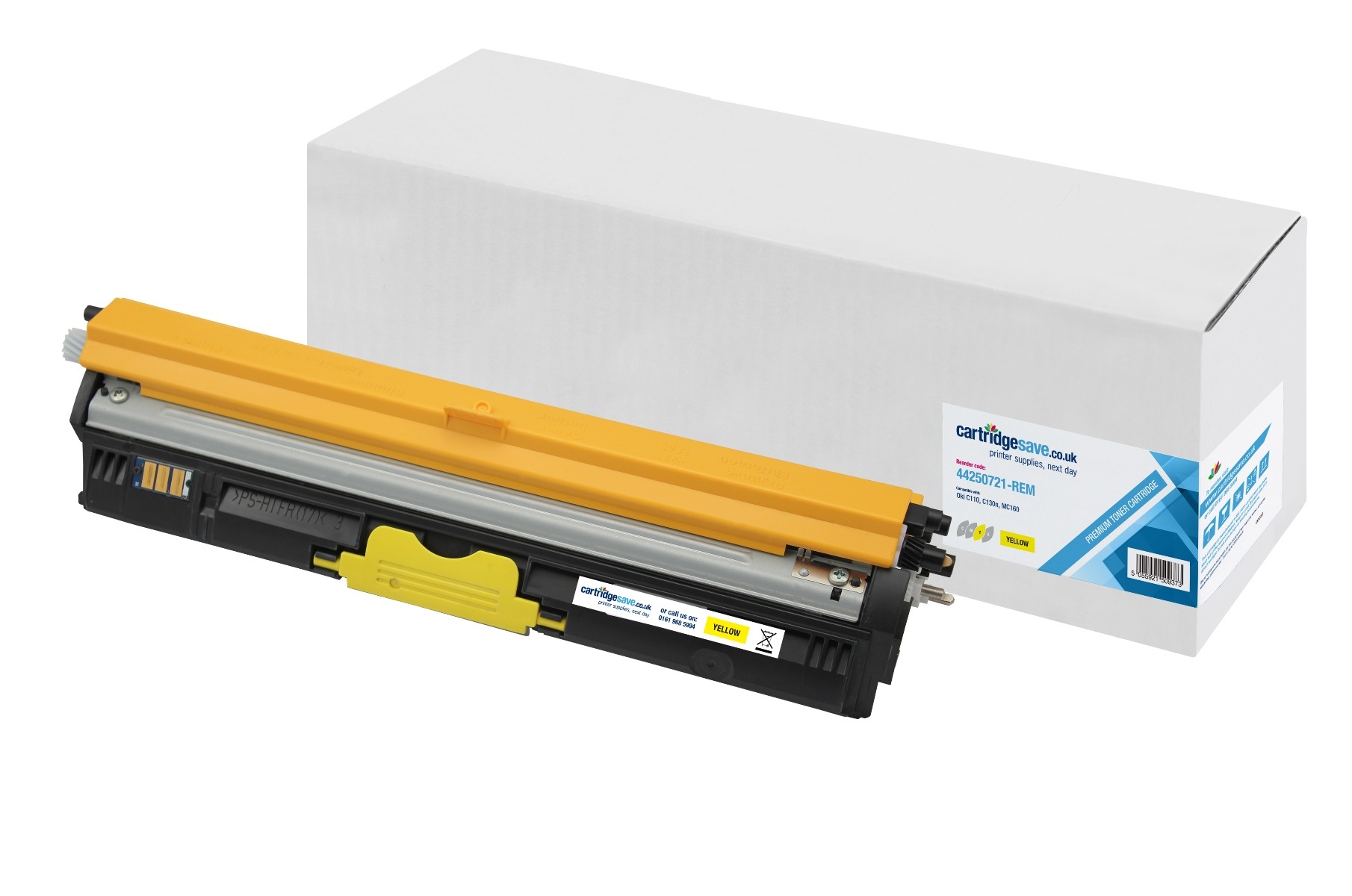 Compatible High Capacity Yellow Oki 44250721 Laser Toner (Replaces Oki 44250721 Laser Printer Cartridge)