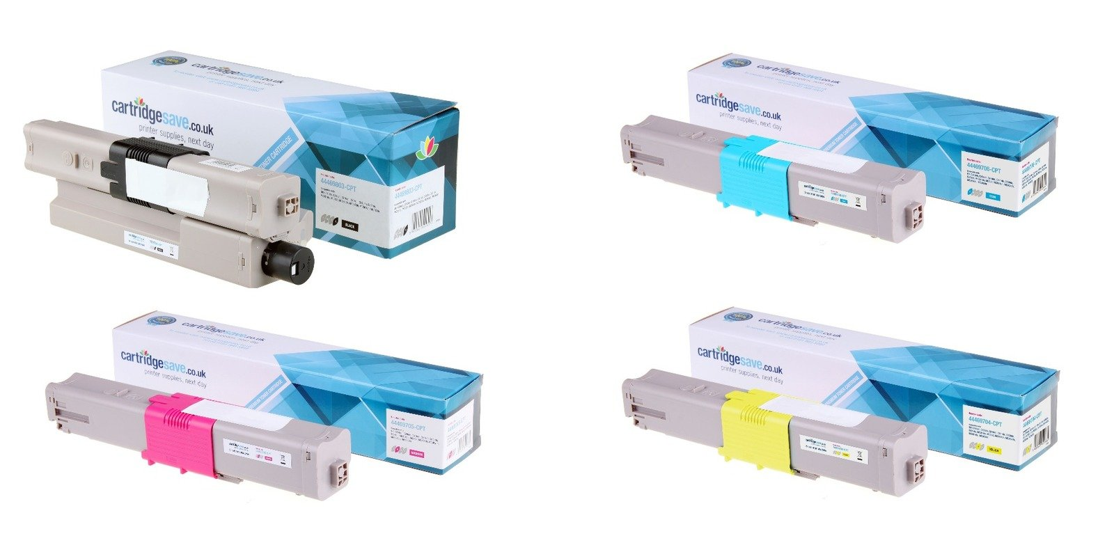 Compatible 4 Colour Oki 4446970 Toner Cartridge Multipack - (44469803/ 44469704/ 44469705/ 44469706)