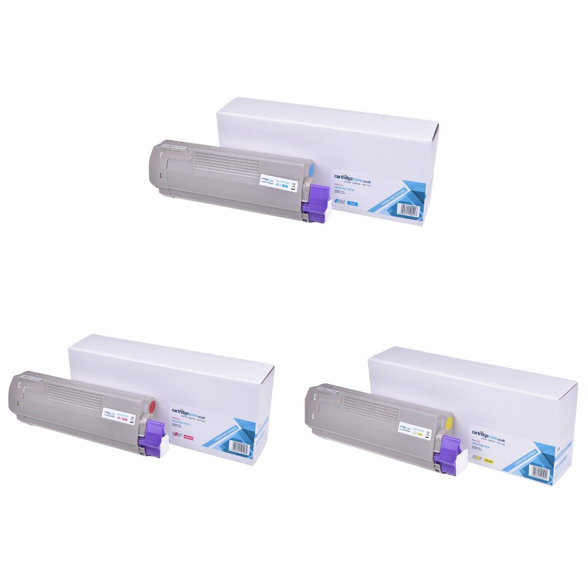 Compatible 3 Colour OKI 4650750 Toner Cartridge Multipack - (46507505/46507506/46507507)