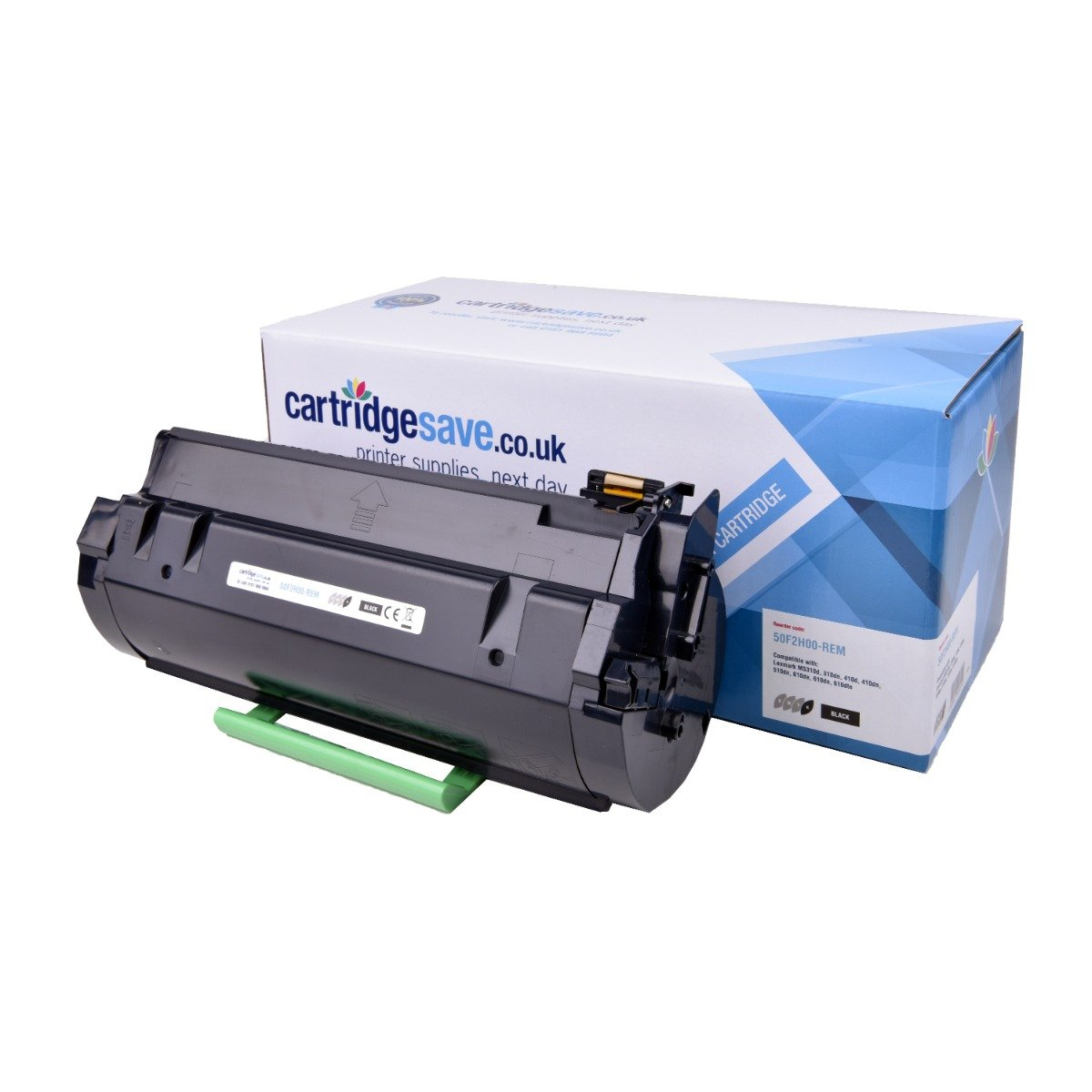 Compatible High Capacity Black Lexmark 502H Toner Cartridge - (50F2H00)