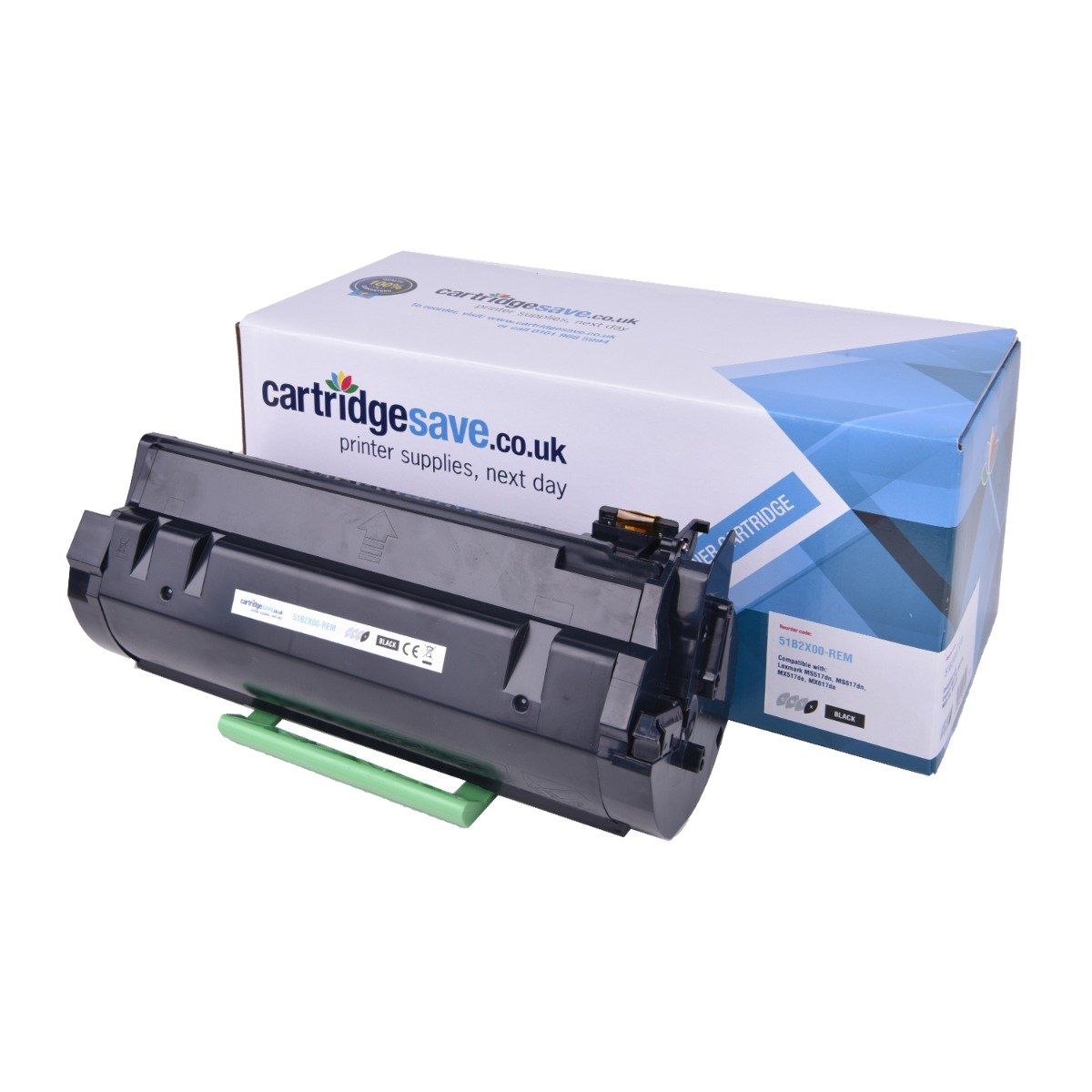 Compatible Extra High Capacity Black Lexmark 51B2X00 Toner Cartridge - (51B2X00)