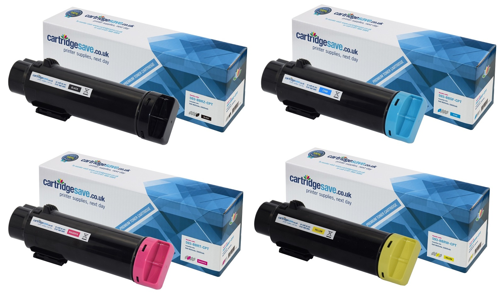 Compatible Dell 4 Colour 593-BBR Extra High Capacity Toner Cartridge Multipack (593-BBRZ/BBSF/BBRT/BBRW)