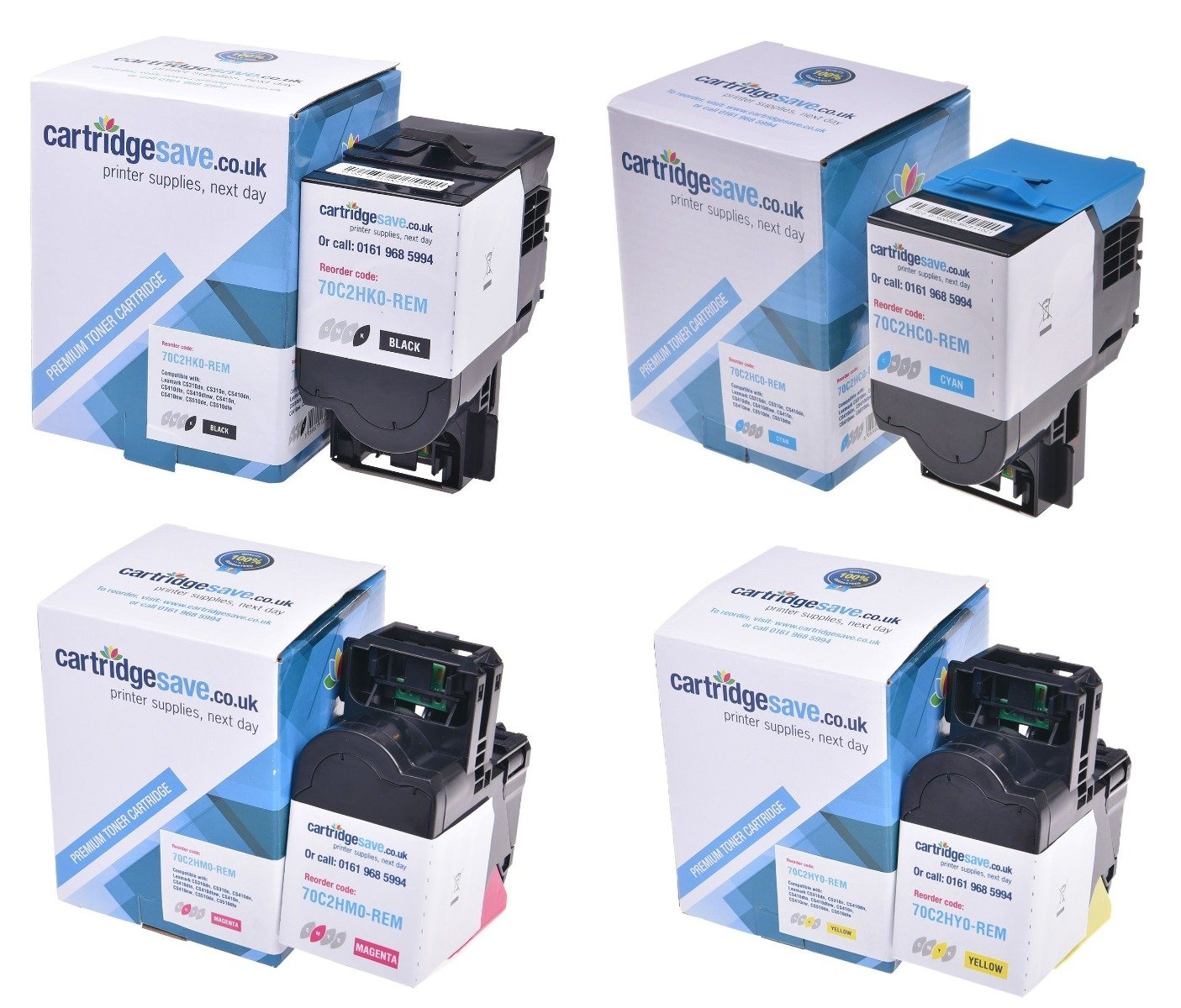 Compatible High Capacity 4 Colour Lexmark 702H Toner Cartridge Multipack - (702HK/702HC/702HM/702HY)