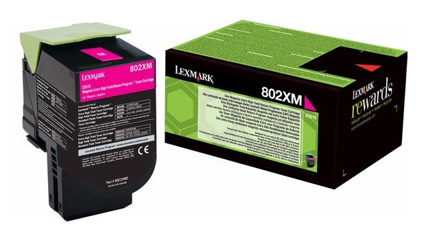 Genuine Extra High Capacity Magenta Return Program Lexmark 802XM Toner Cartridge - (80C2XM0)
