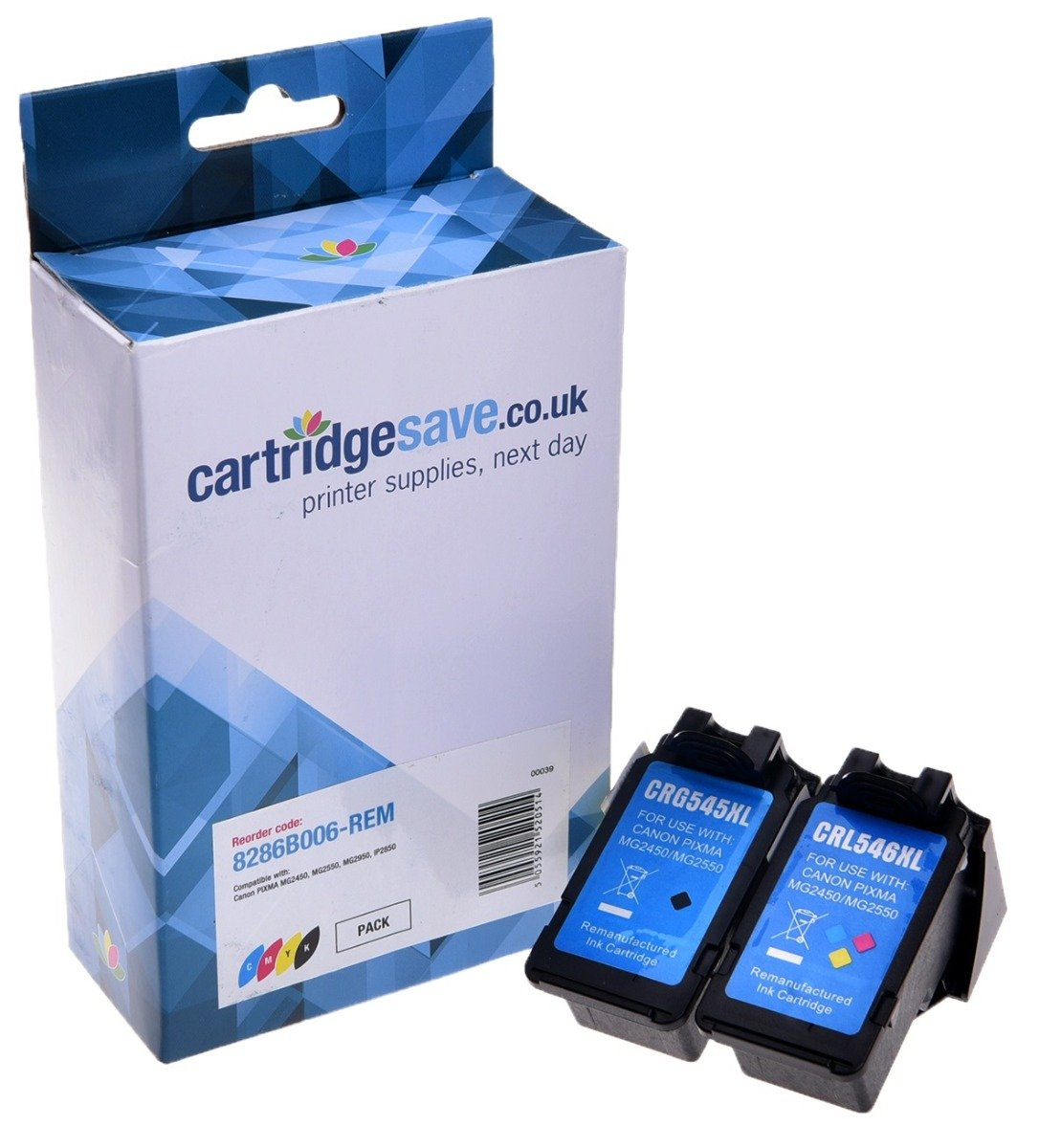 Compatible High Capacity Black & Tri-Colour Canon PG-545XL & CL-546XL Ink Multipack (Replaces Canon 8286B006)