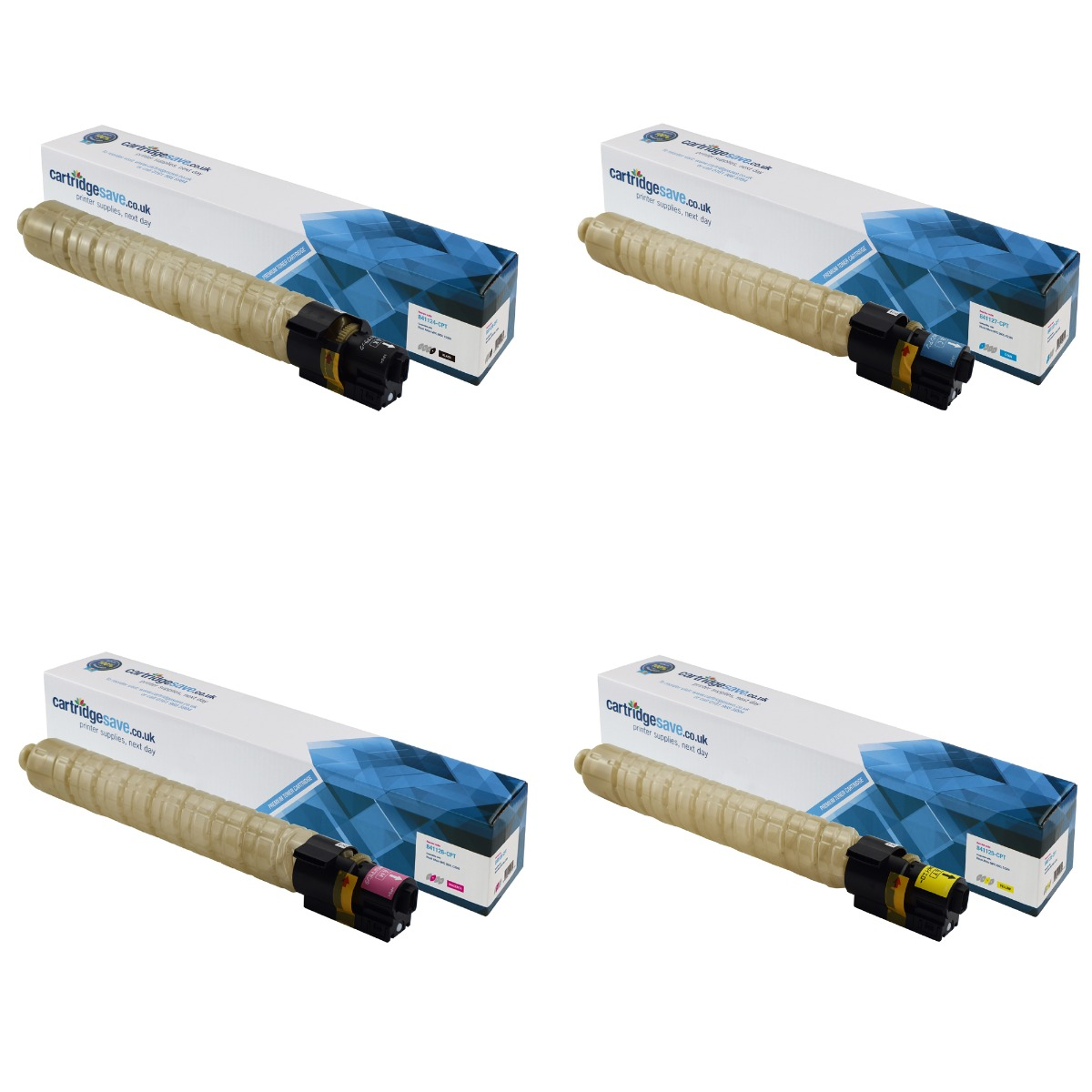 Compatible 4 Colour Ricoh 84112 Toner Cartridge Multipack - (841124/7/6/5)