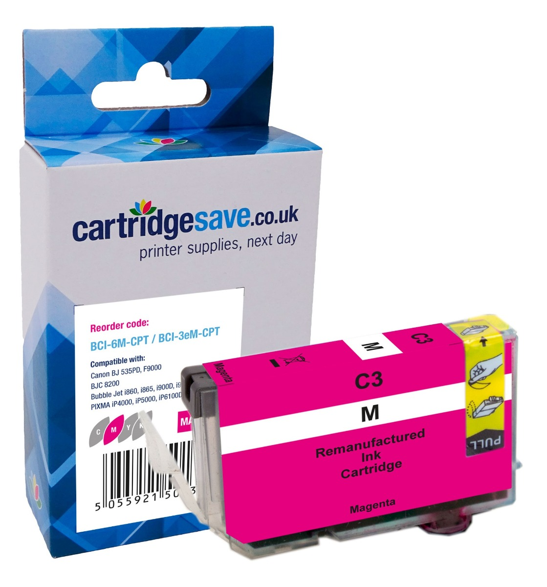 Compatible Magenta Canon BCI-3eM Printer Cartridge - (Canon 4481A002)