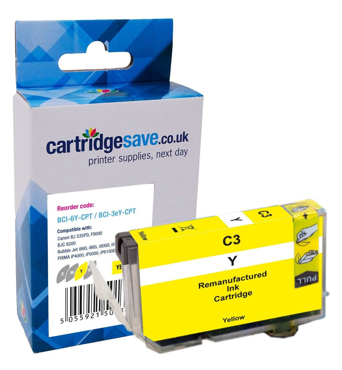 Compatible Yellow Canon BCI-6Y Printer Cartridge - (Canon 4708A002)