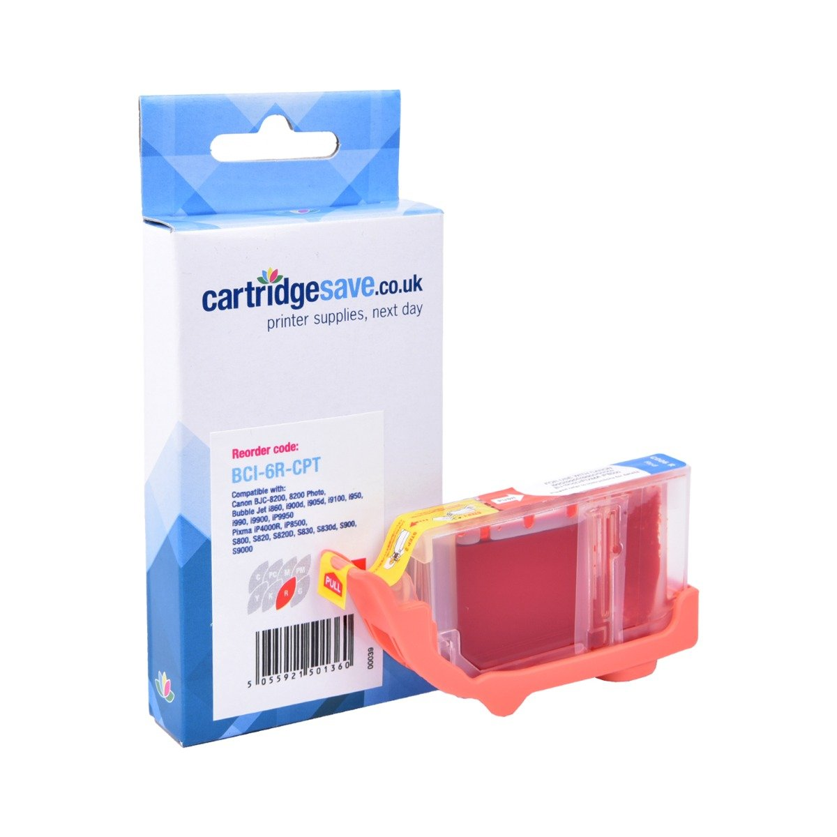 Compatible Canon Red BCI-6R Ink Cartridge - (Replaces Canon BCI-6R)