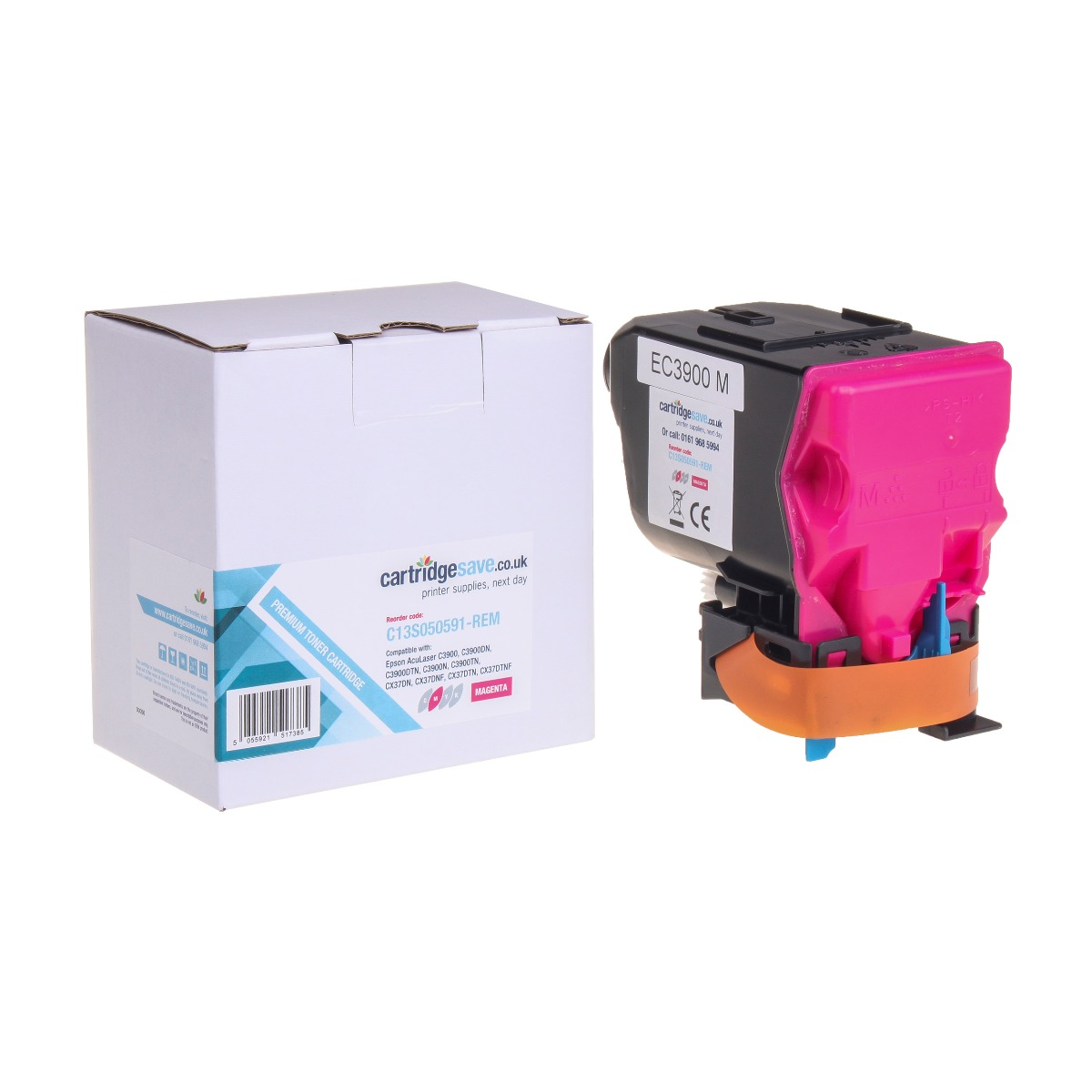 Compatible Magenta Epson S050591 Toner Cartridge - (Replaces Epson C13S050591)