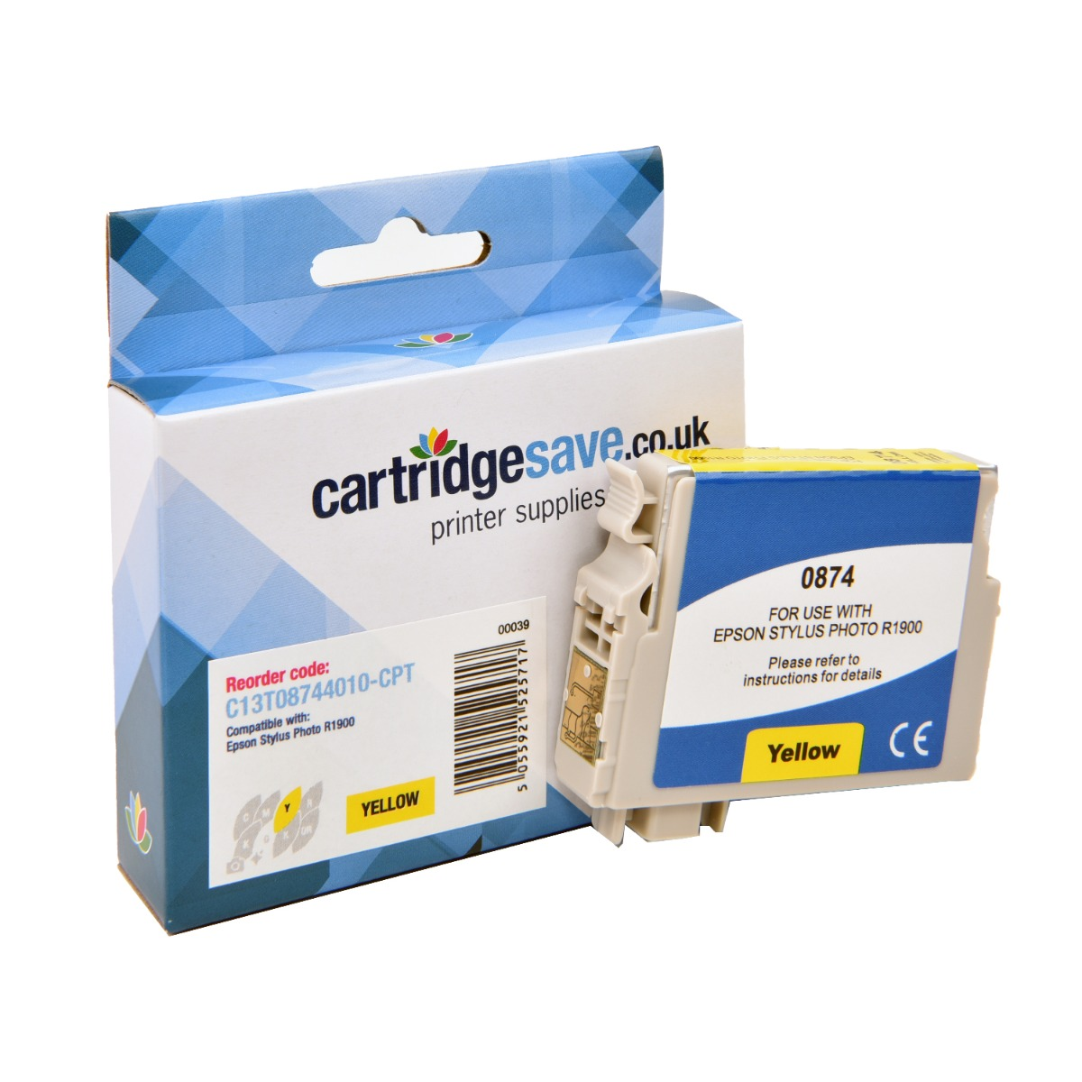 Compatible Yellow Epson T0874 Ink Cartridge - (C13T08744010)