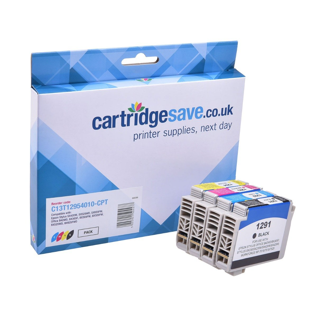 Compatible High Capacity 4 Colour Epson T1295 Ink Cartridge Multipack - (Replaces Epson T1295 Apple Inkjet Printer Cartridges)