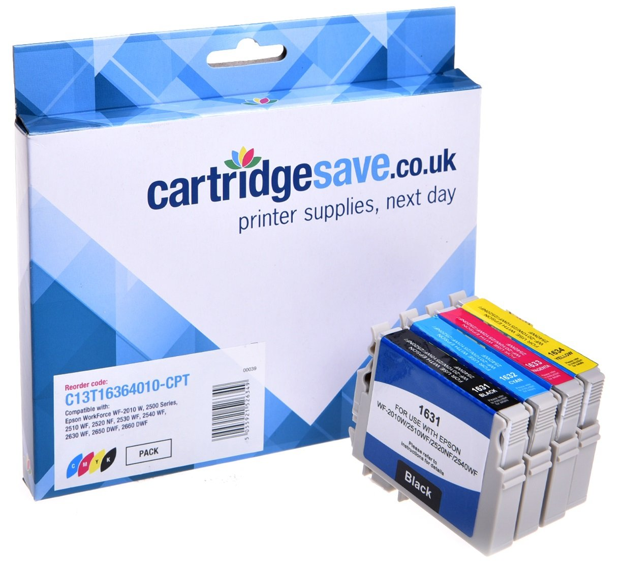 Compatible 4 Colour High Capacity Epson 16XL Ink Cartridge Multipack - (Replaces T1636 contains T1631/T1632/T1633/T1634 Pen and Crossword Inkjet Printer Cartridges)