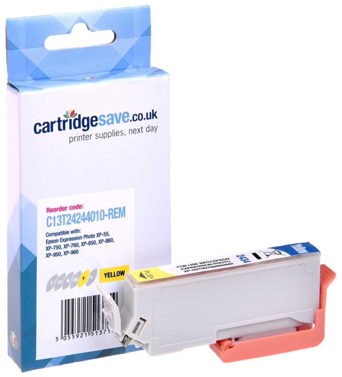 Compatible Yellow Epson 24 Ink Cartridge - (Replaces Epson T2424 Elephant Inkjet Printer Cartridge)