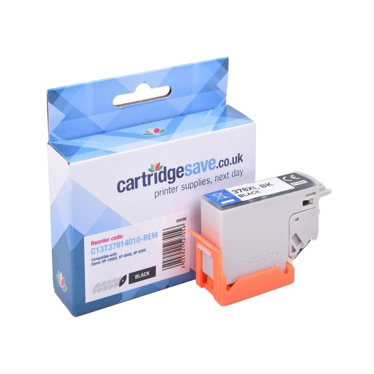 Compatible High Capacity Epson Black 378XL Ink Cartridge - (Replaces Epson T3791 Squirrel Inkjet Printer Cartridge)