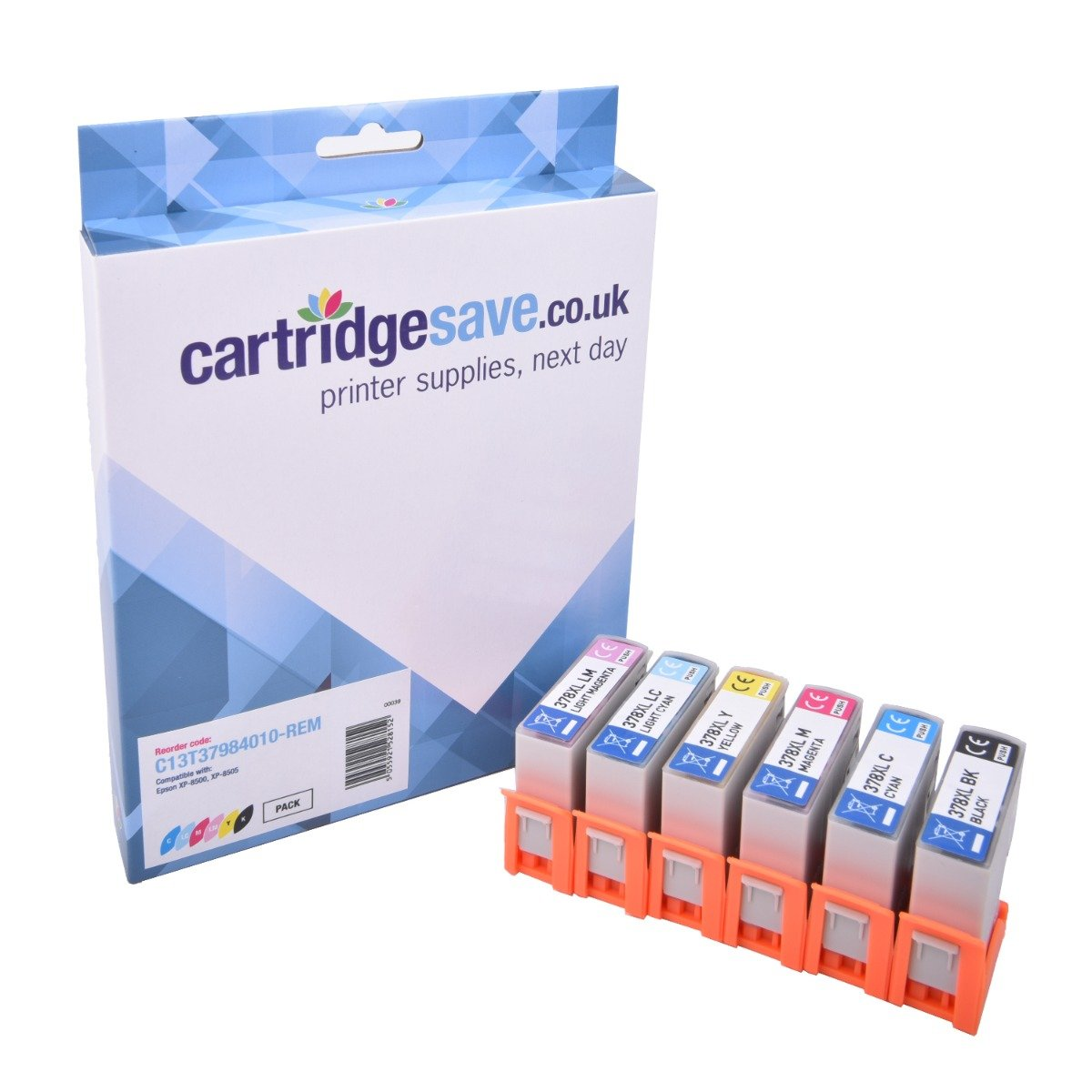 Compatible 6 Colour Epson 378XL High Capacity Ink Cartridge Multipack - (Replaces Epson T3798 Squirrel Inkjet Printer Cartridges)