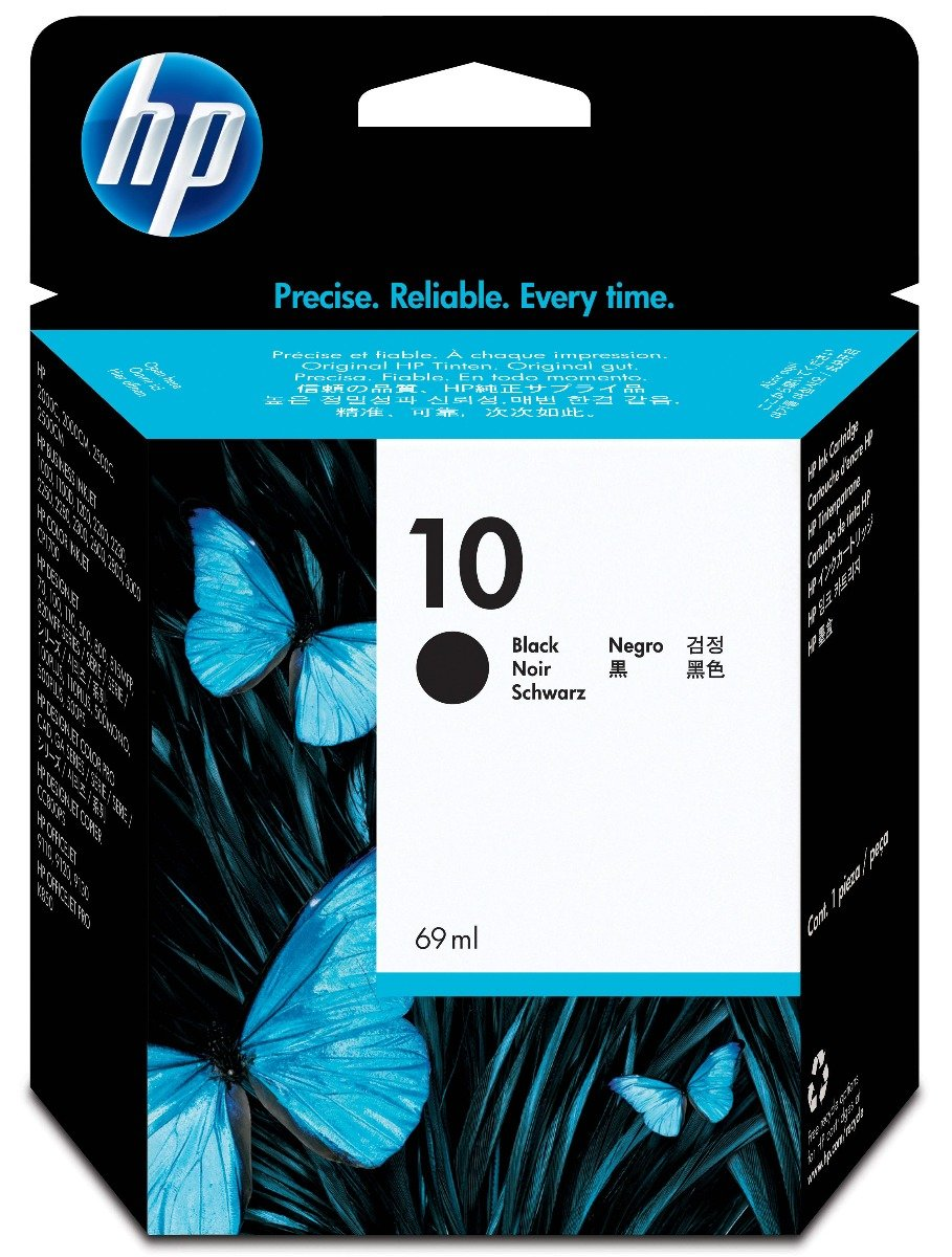 Genuine Black HP 10 Ink Cartridge - (C4844AE)