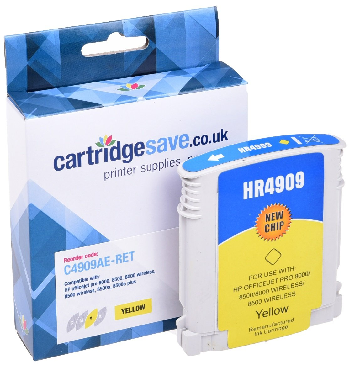 Compatible High Capacity Yellow HP 940XL Ink Cartridge - (Replaces HP C4909AE)