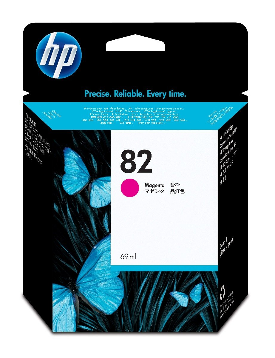 Genuine High Capacity Magenta HP 82 Ink Cartridge - (C4912A)