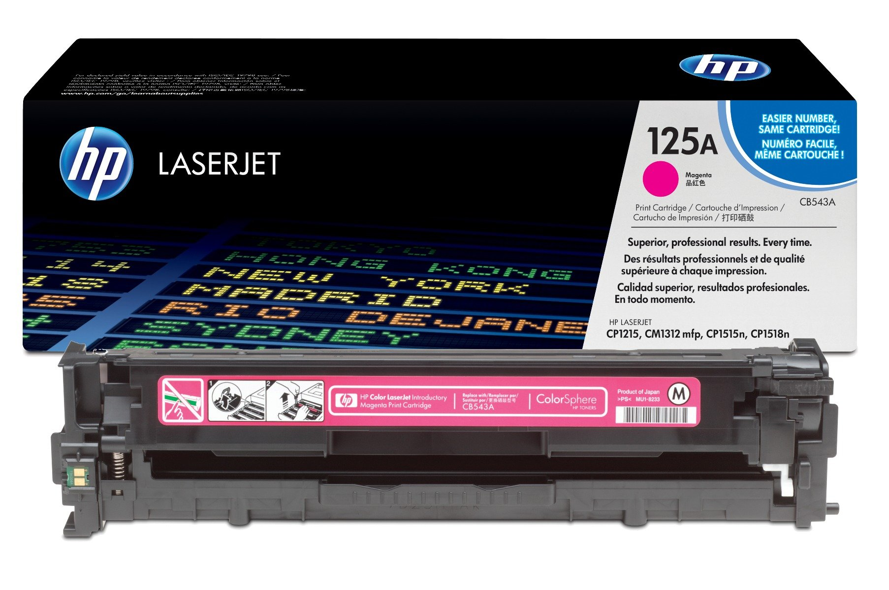 Genuine Magenta HP 125A Toner Cartridge - (CB543A)