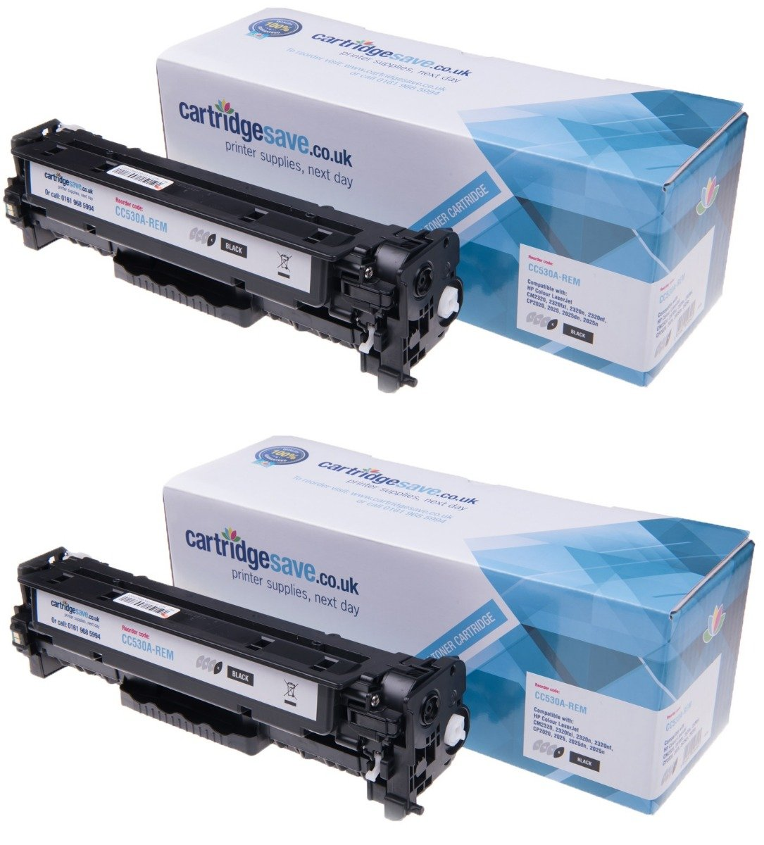 Compatible Black HP 304A Toner Cartridge Twin pack (HP CC530A)