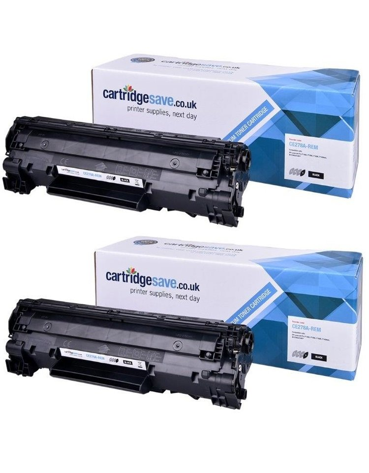 Compatible Black HP 78A Toner Cartridge Twin Pack - (CE278AD Laser Printer Cartridges)