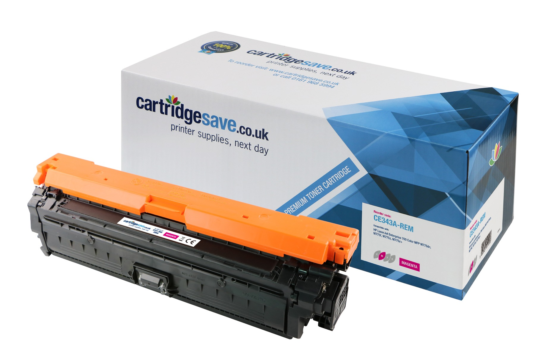 Compatible Magenta HP 651A Toner Cartridge - (CE343A)