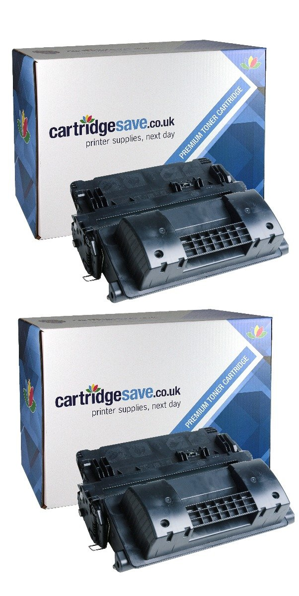 Compatible High Capacity Black HP 90X Toner Cartridge Twin Pack - (CE390XD)