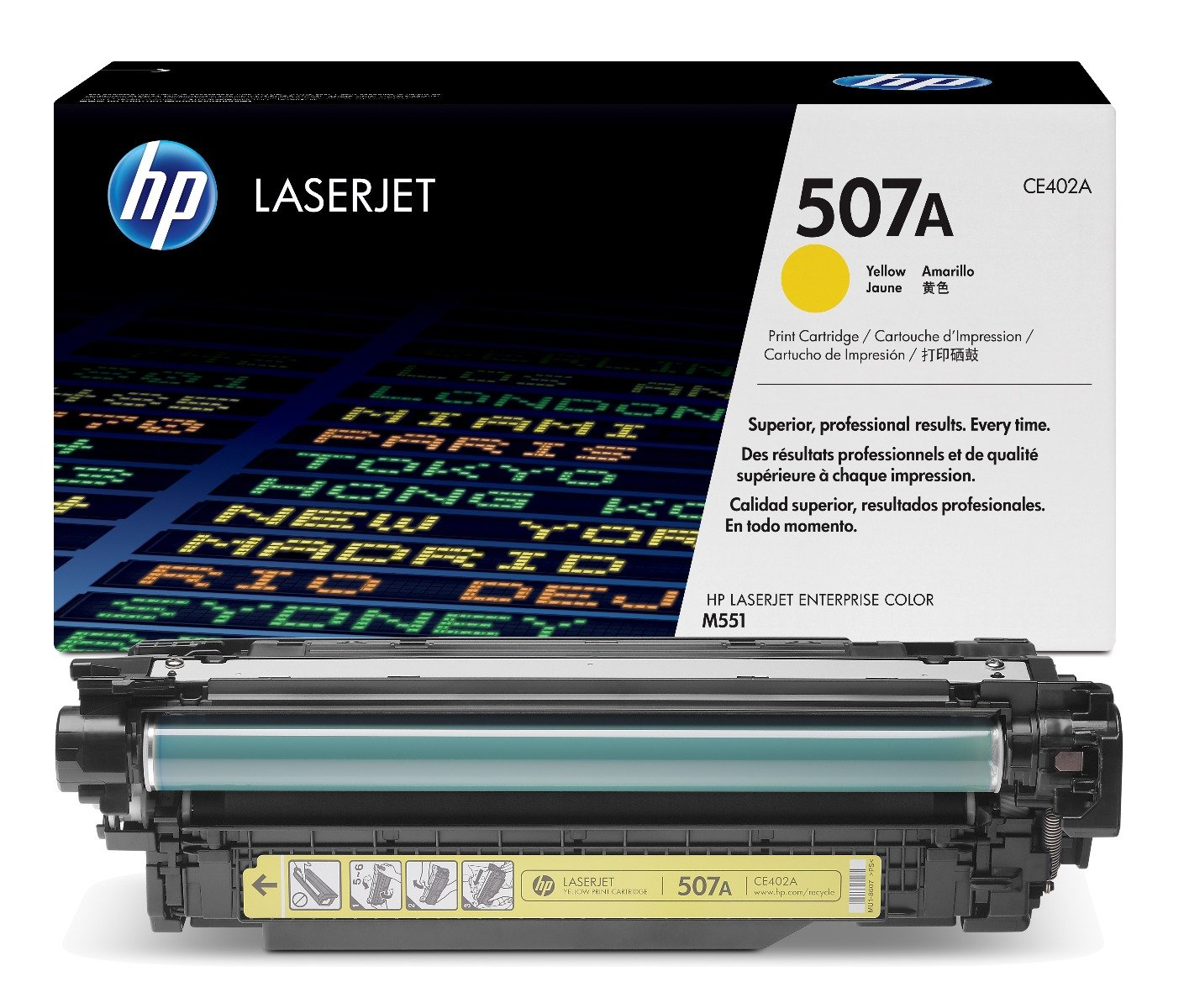 Genuine Yellow HP 507A Toner Cartridge - (CE402A)