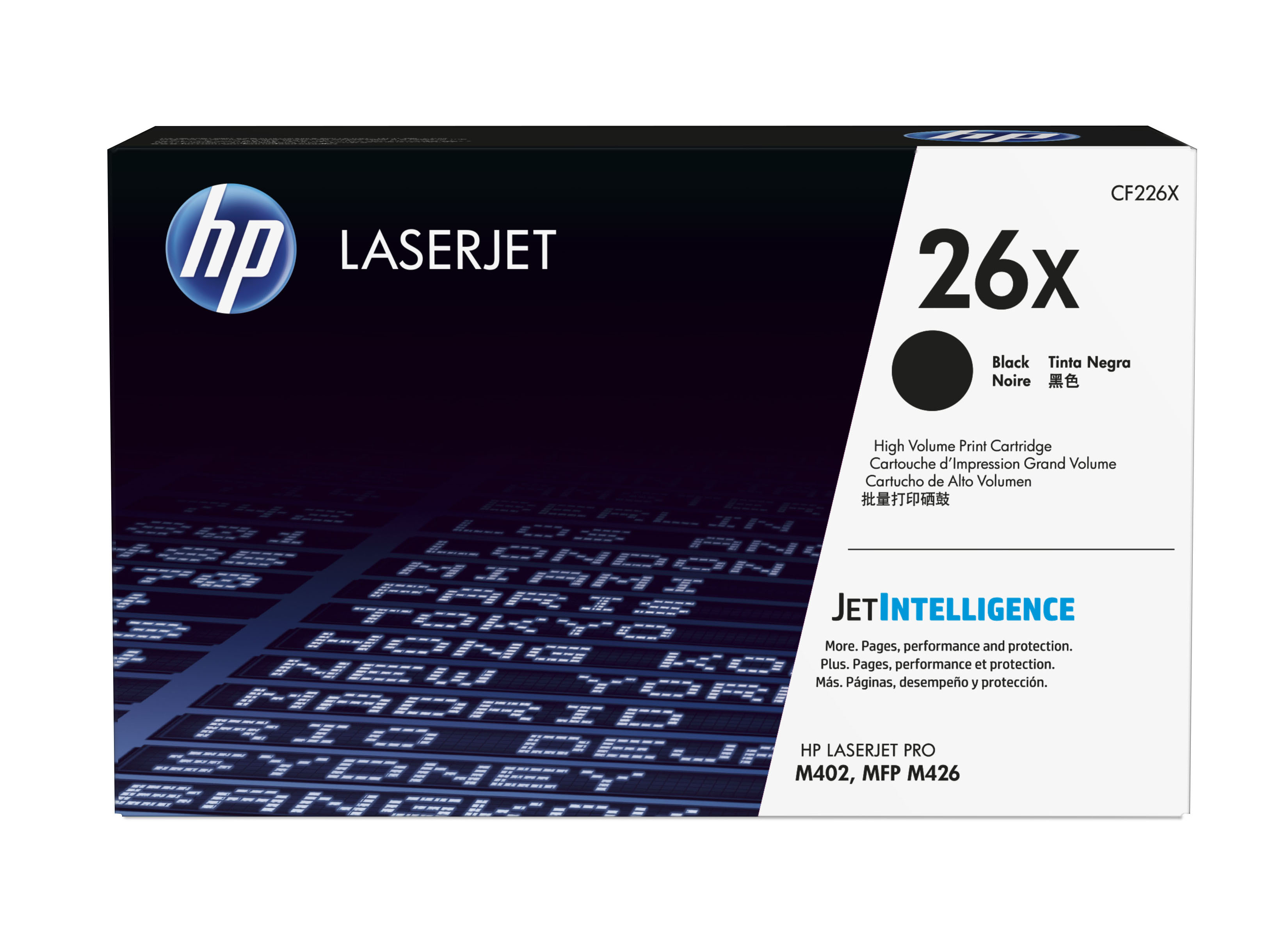 Genuine High Capacity Black HP 26X Toner Cartridge - (CF226X)