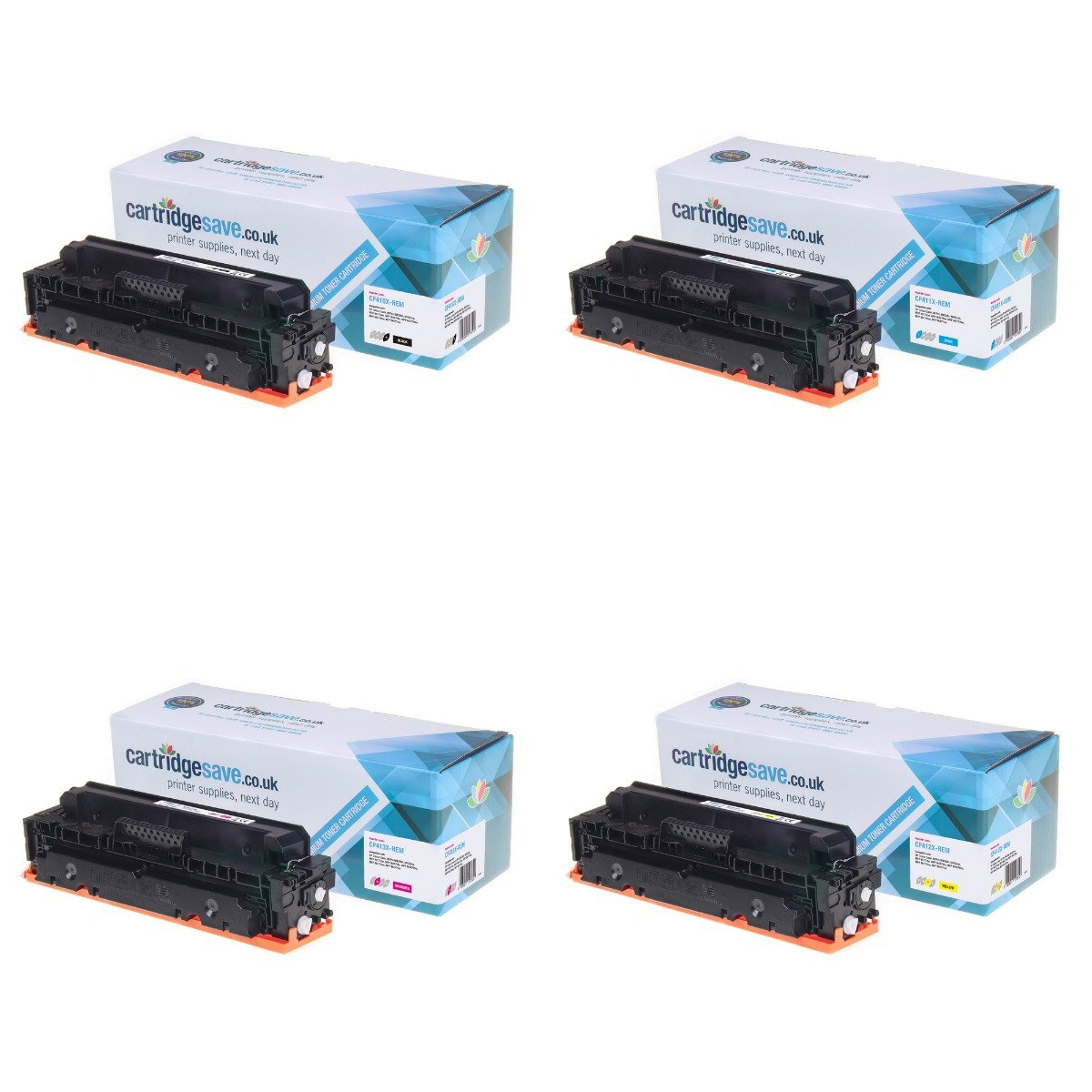 Compatible 4 Colour High Capacity HP 410X Toner Cartridge Multipack - (CF410X/CF411X/CF412X/CF413X)