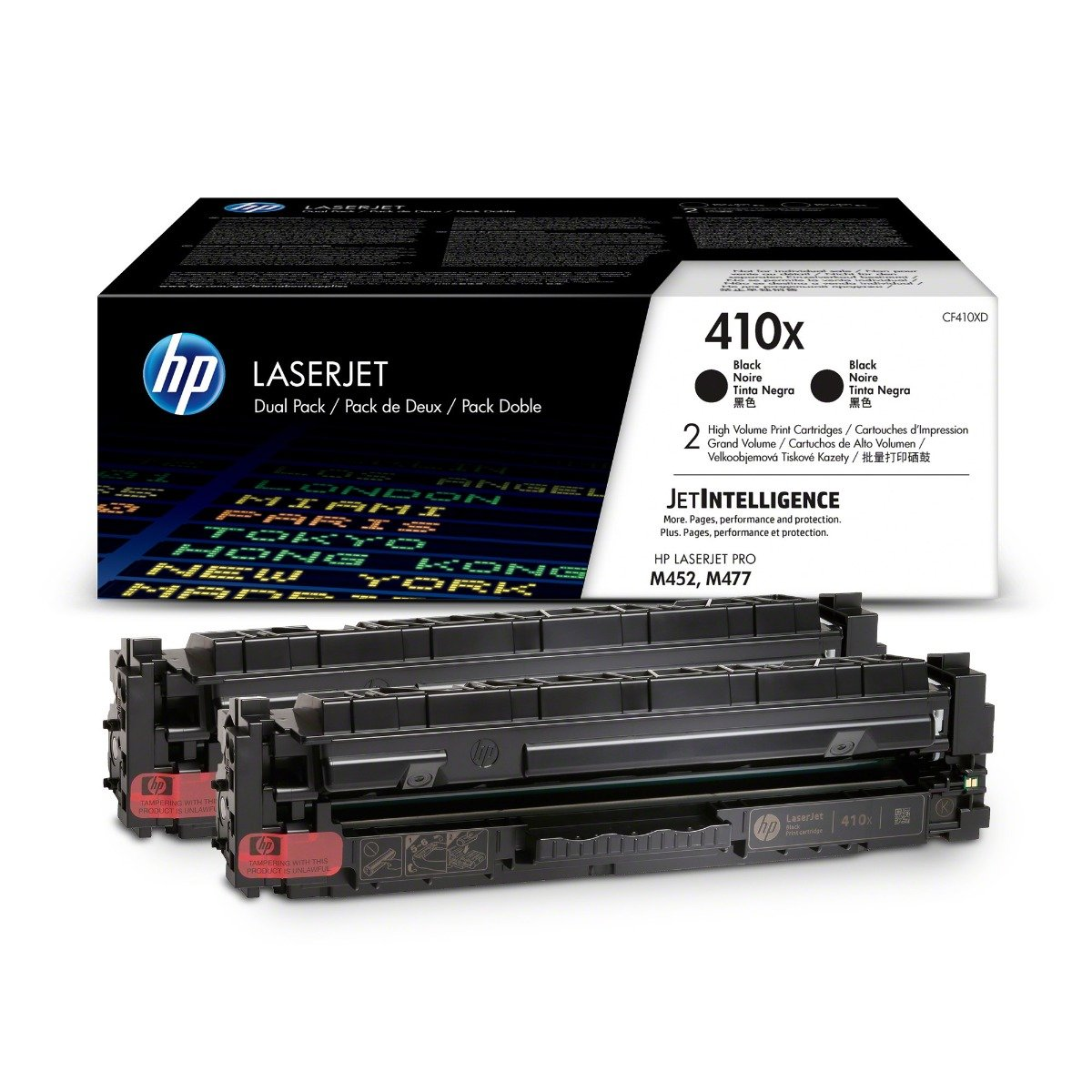 Genuine High Capacity Black HP 410X Dual Pack Toner - (CF410XD)