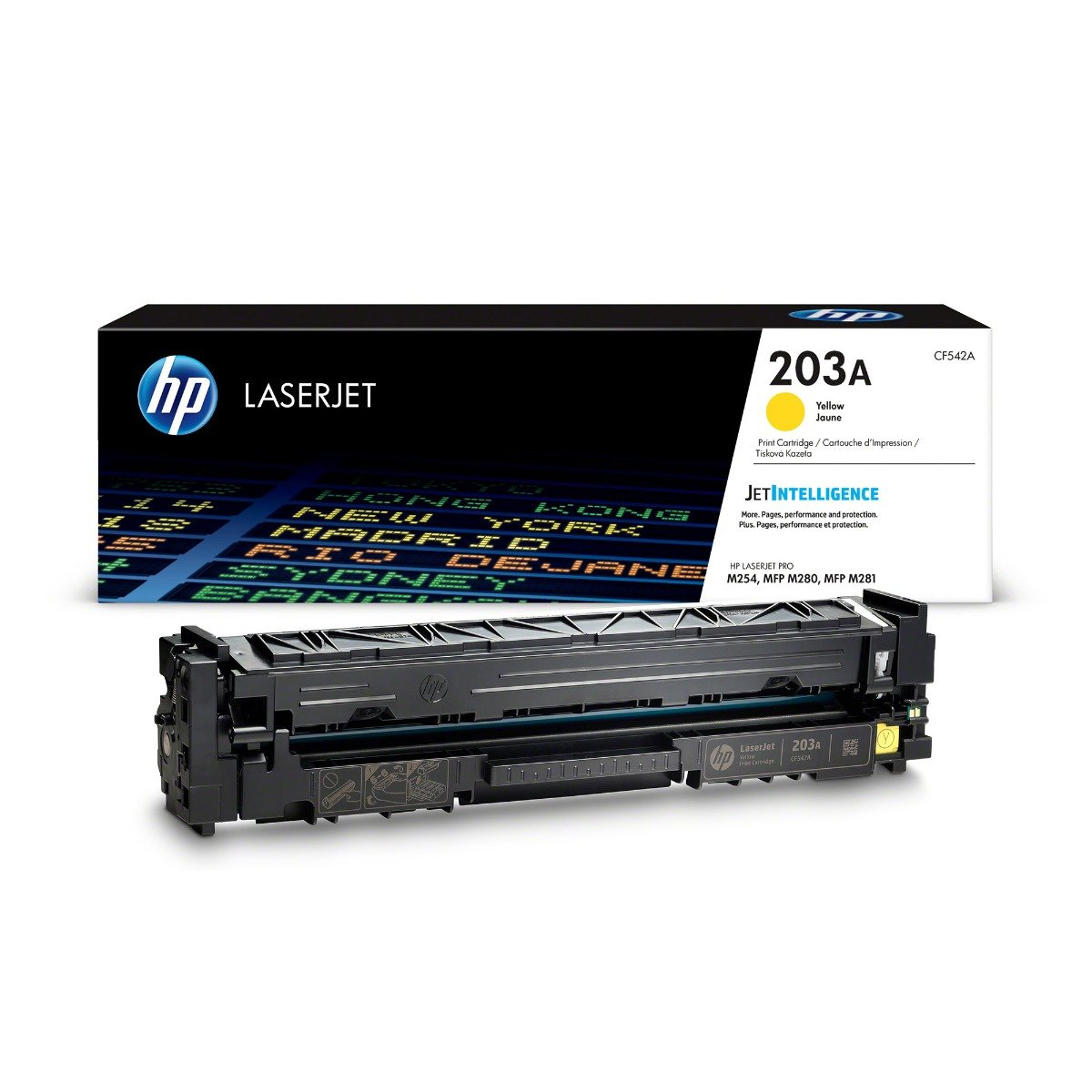 Genuine Yellow HP 203A Toner Cartridge - (CF542A)