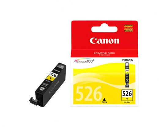 Genuine Yellow Canon CLI-526Y Ink Cartridge - (4543B001)