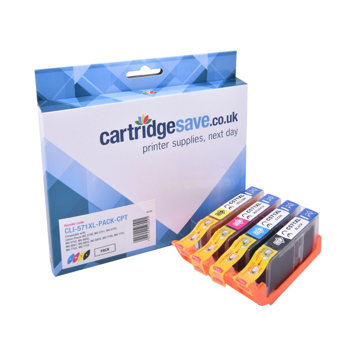 Compatible High Capacity 4 Colour Canon CLI-571XL Ink Cartridge Multipack - (CLI-571XLBK/C/M/Y)
